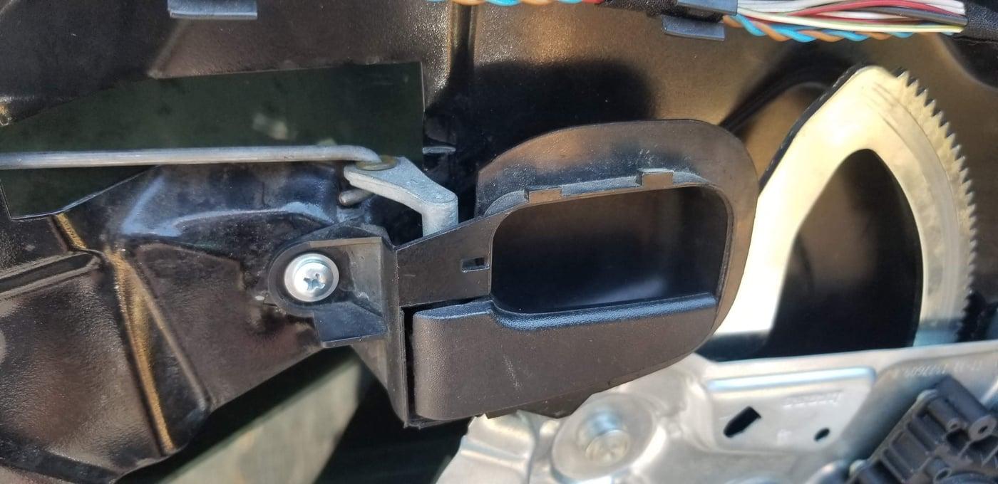 Step 9 - reinstall inner door handle
