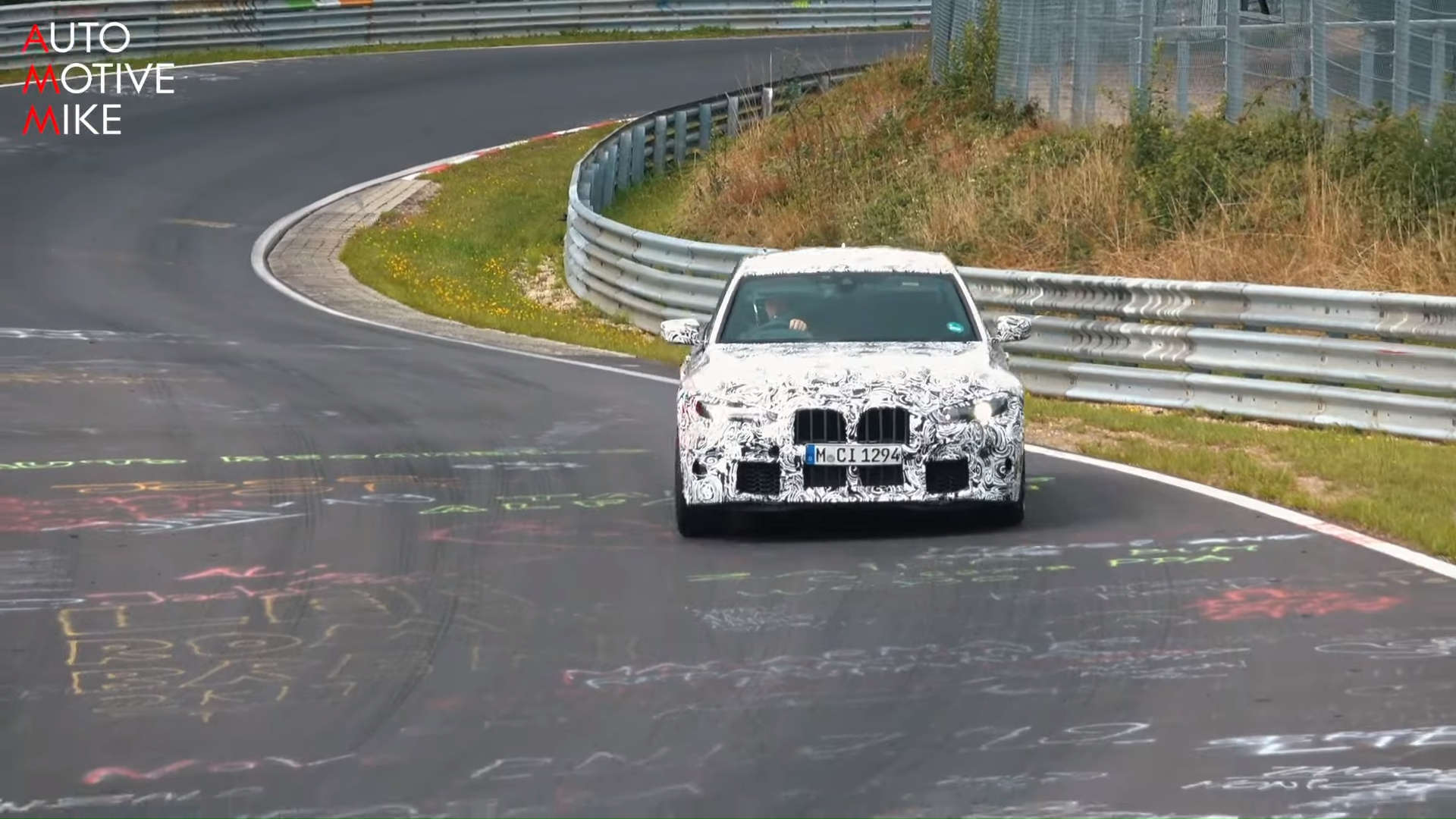 2021 BMW G80 M3 Nurburgring Nordschleife Spy Shots Grill Front End