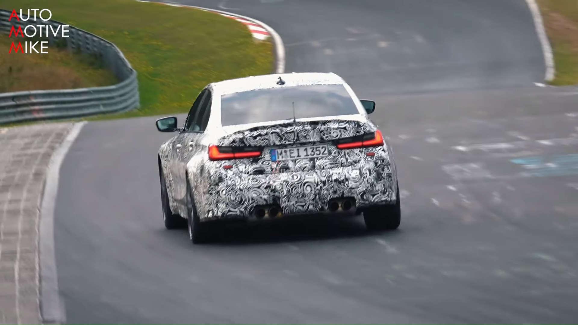 2021 BMW G80 M3 Nurburgring Nordschleife Spy Shots Rear