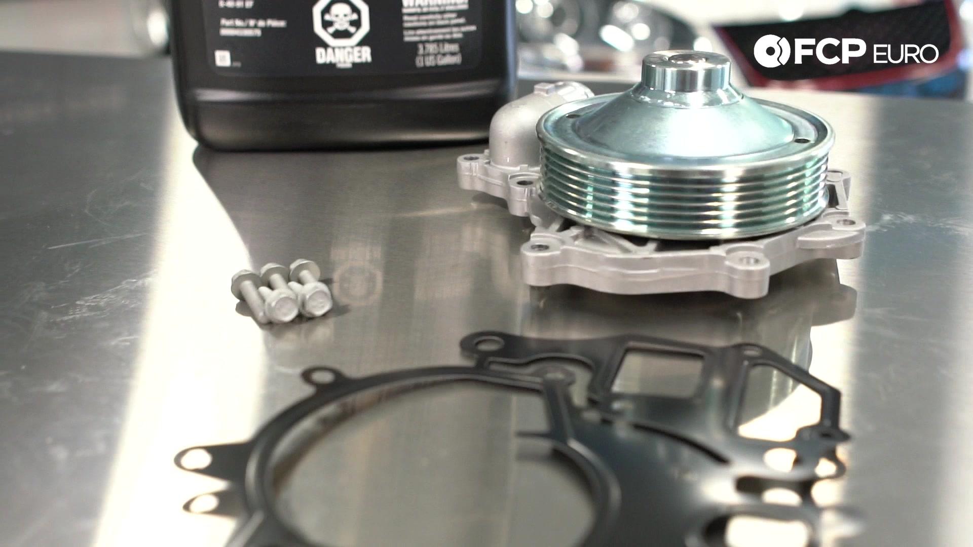 Porsche 996 911 Metal Impeller Water Pump Closeup
