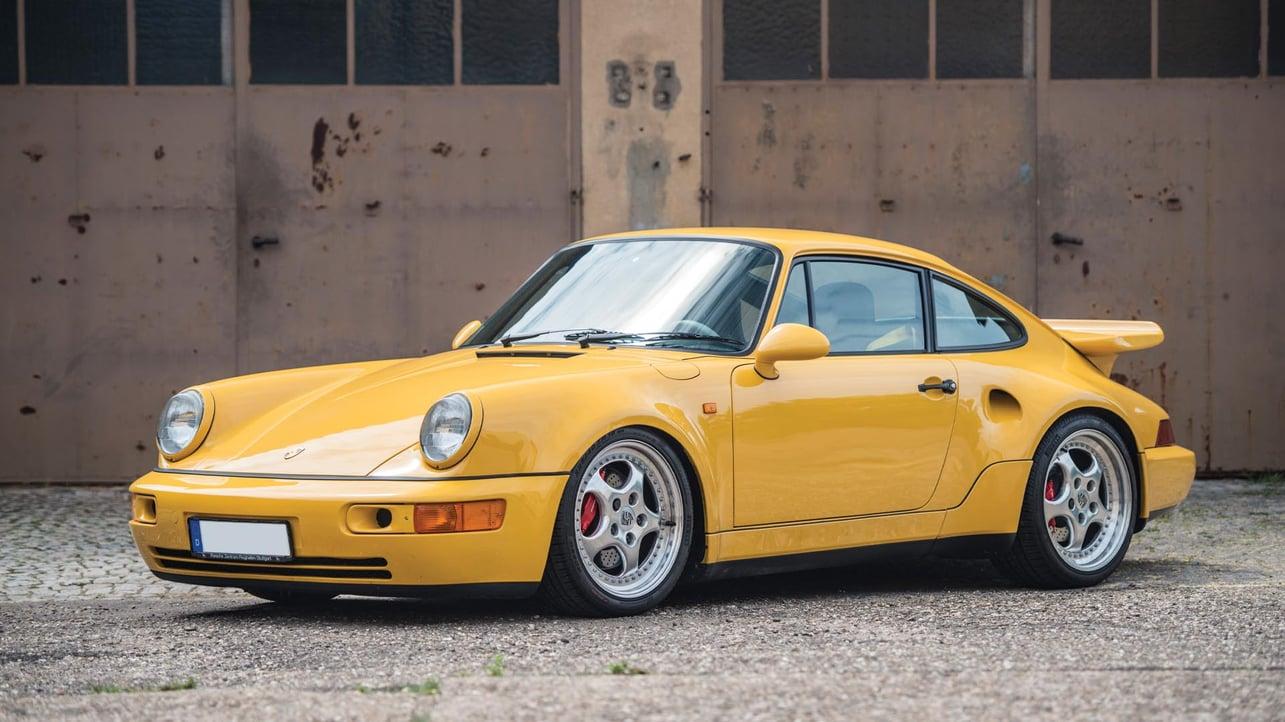 Porsche 911 964 3.3 Leichtbau Yellow