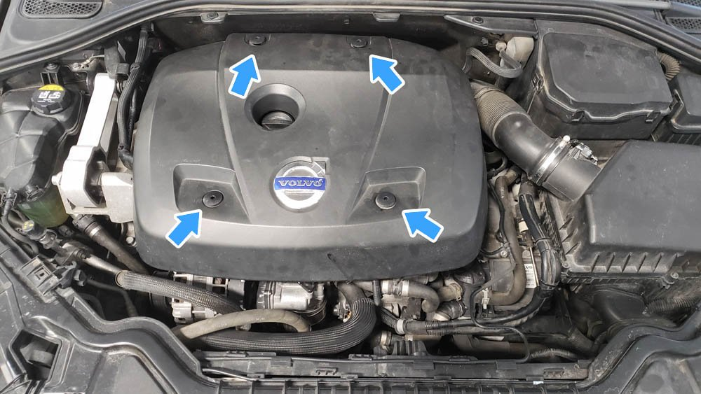 Volvo V60 P3 Water Pump Replacement Engine Cover