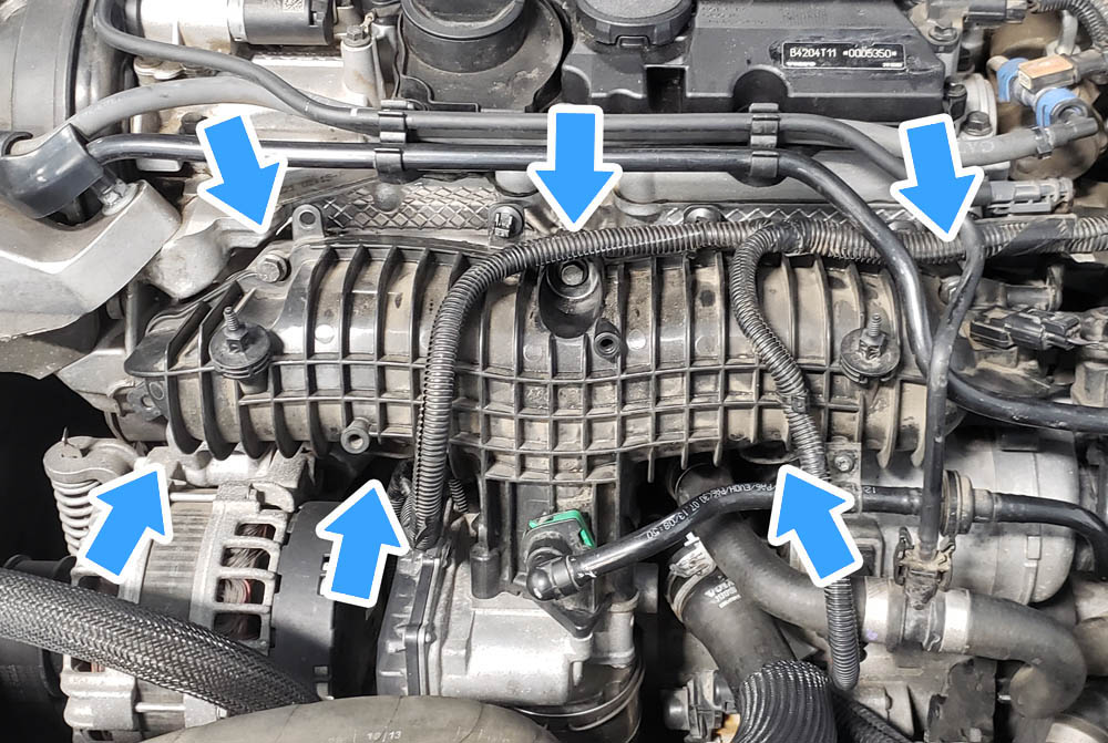 Volvo V60 P3 Water Pump Replacement Intake Manifold Bolt Locations