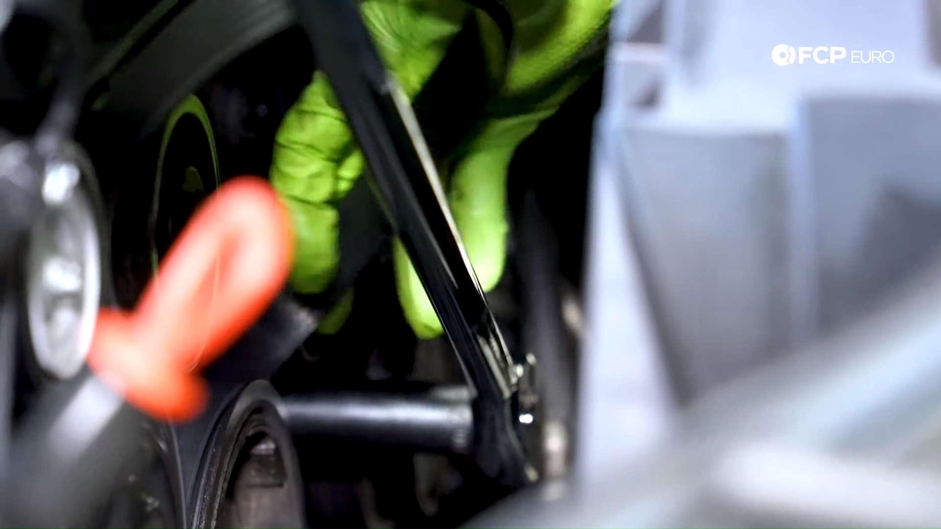 Mercedes m272 oil cooler gasket drive belt removal