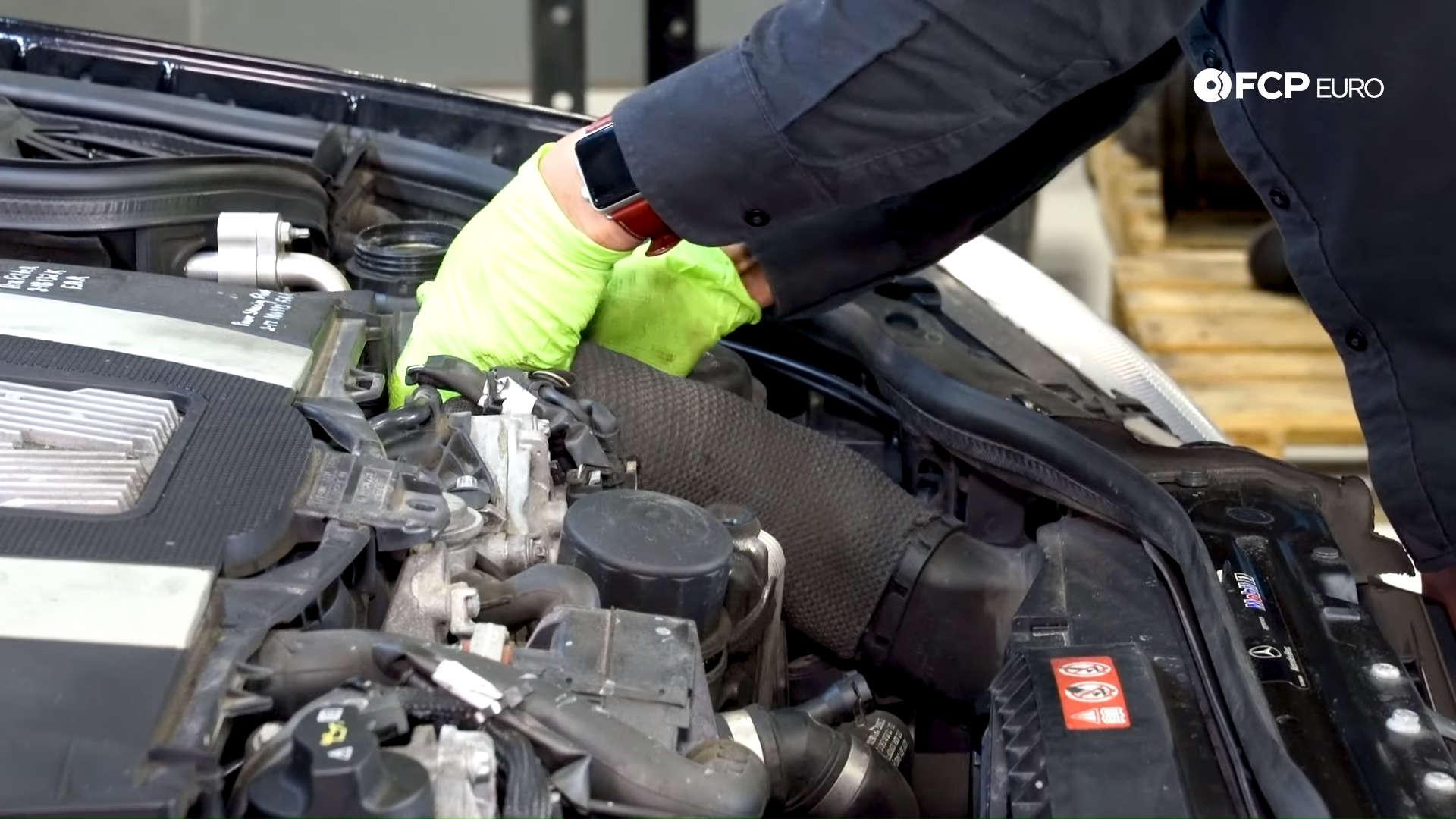 Mercedes m272 oil cooler gasket fresh air snorkel