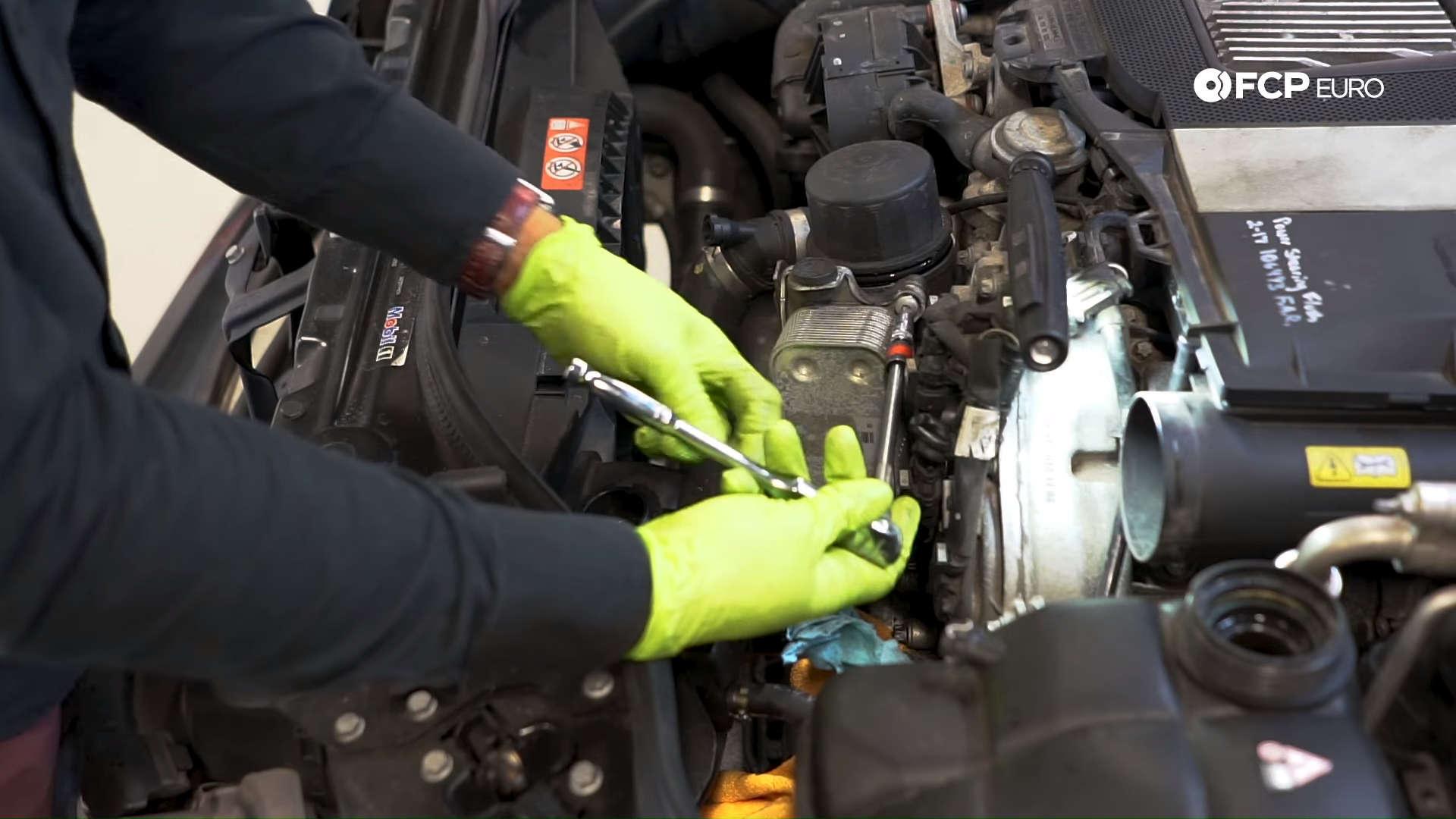 Mercedes m272 oil cooler gasket oil cooler