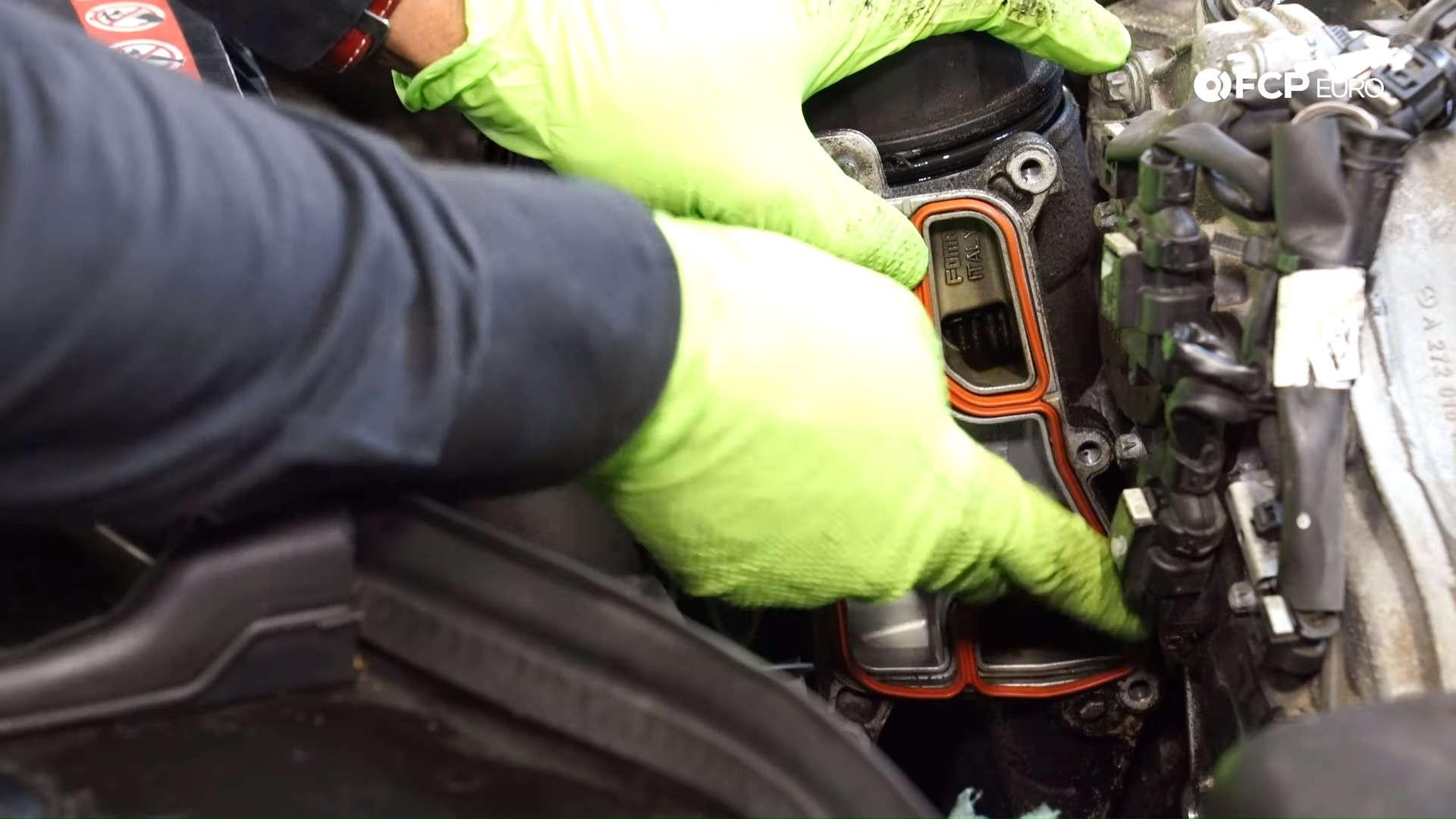 Mercedes m272 oil cooler gasket installation