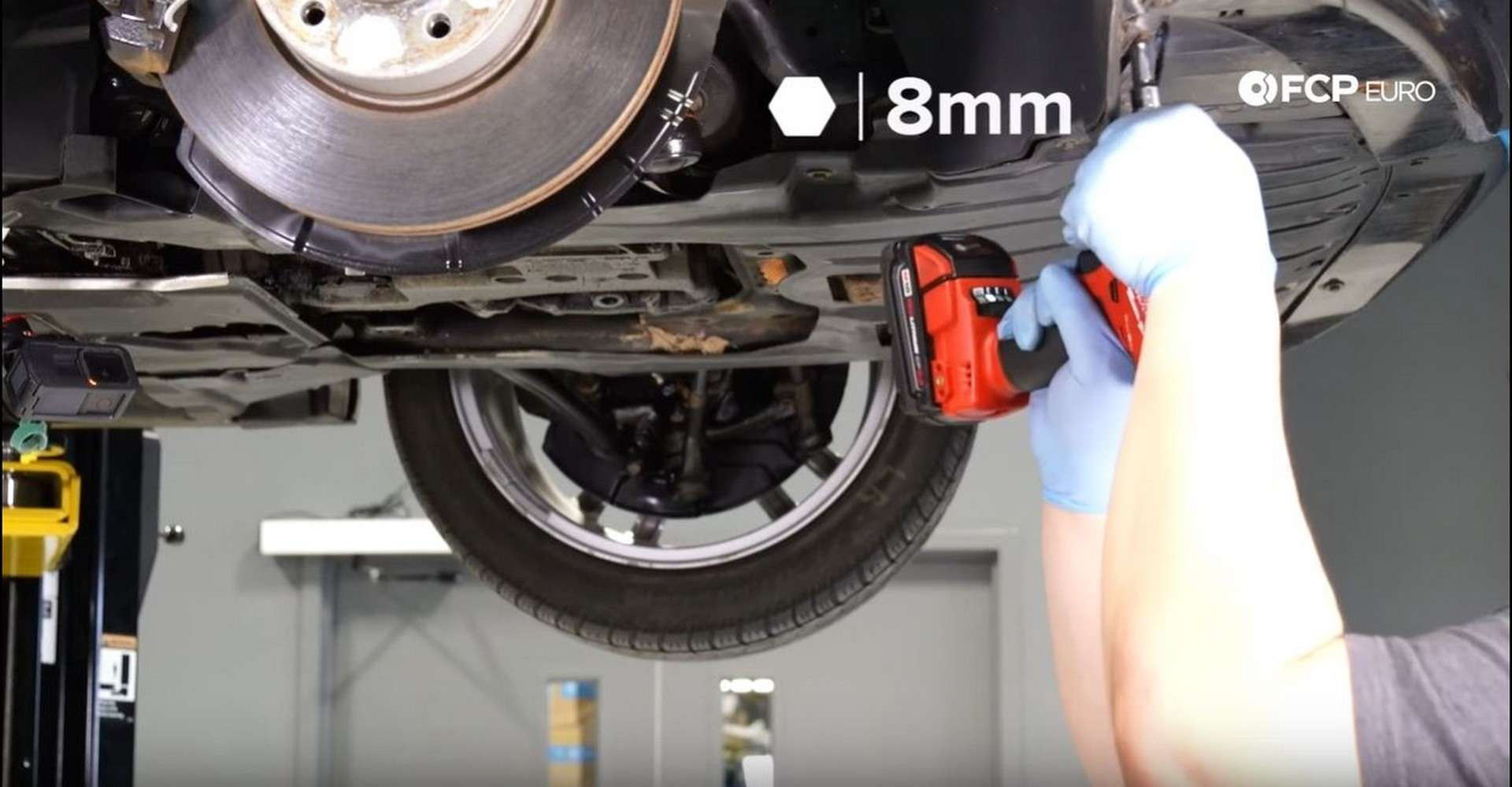 BMW Front Suspension Refresh underbody panel nut removal