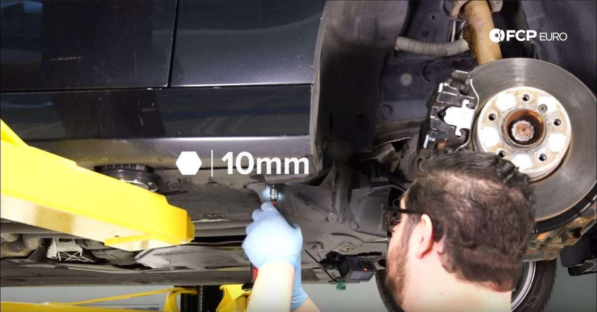 BMW Front Suspension Refresh splash guard nut removal