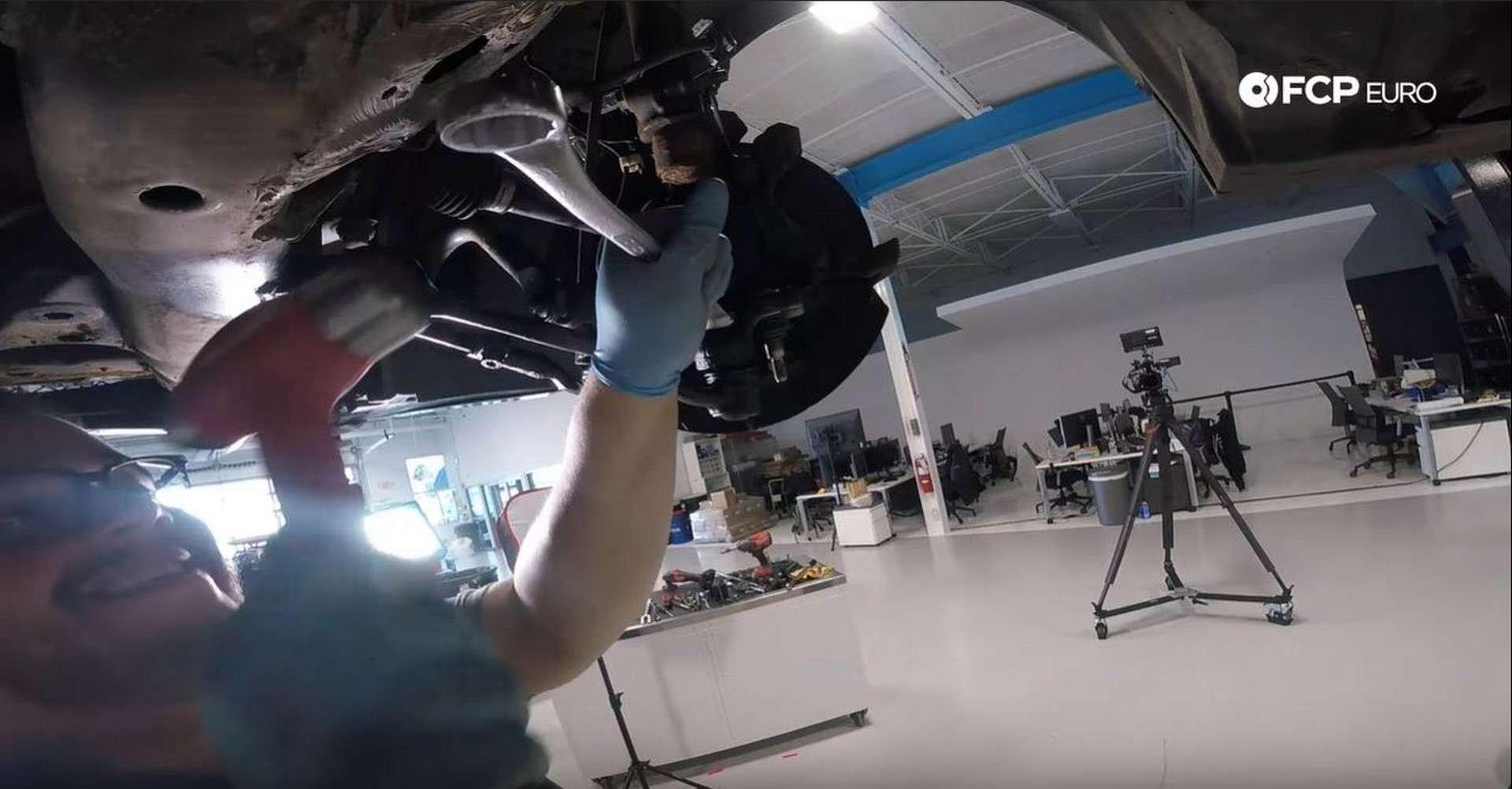 BMW Front Suspension Refresh loosening 24mm nut