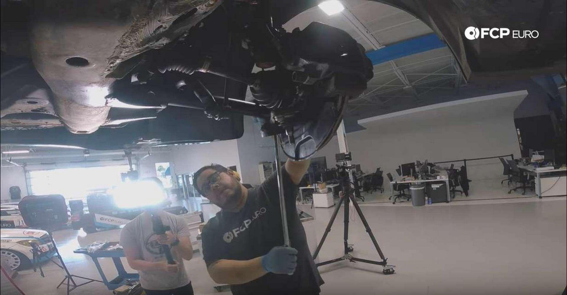BMW Front Suspension Refresh loosening tie rod