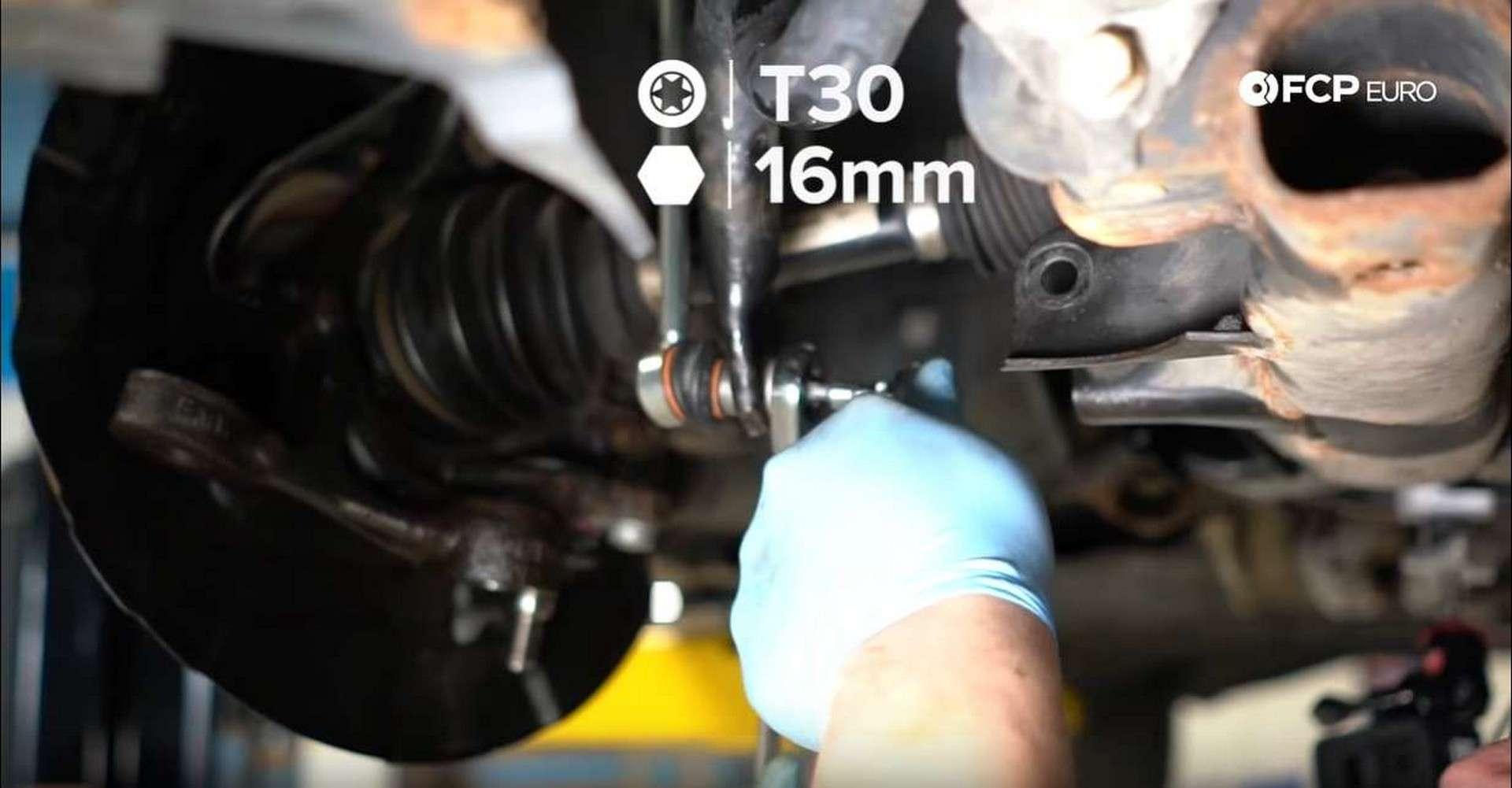 BMW Front Suspension Refresh tightening end link