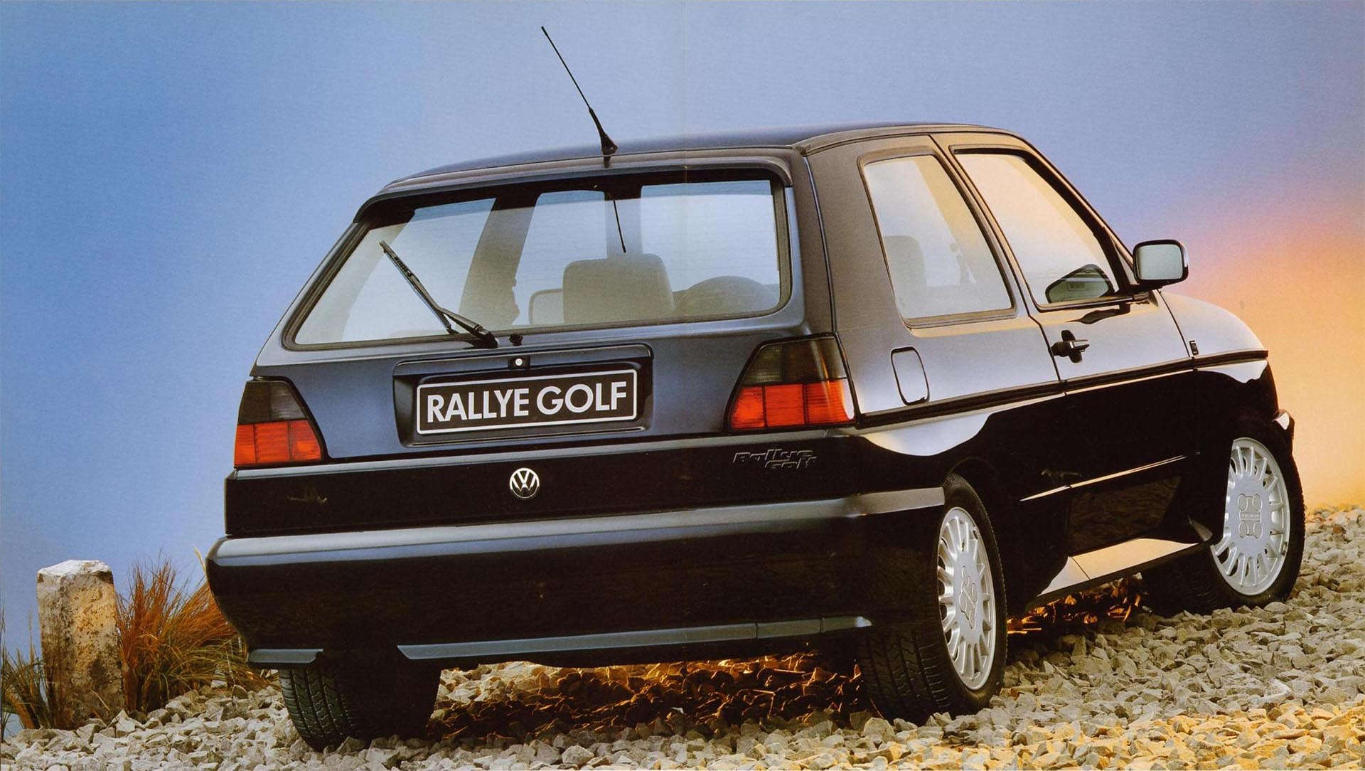 Volkswagen Mk2 Golf Rallye rear stock