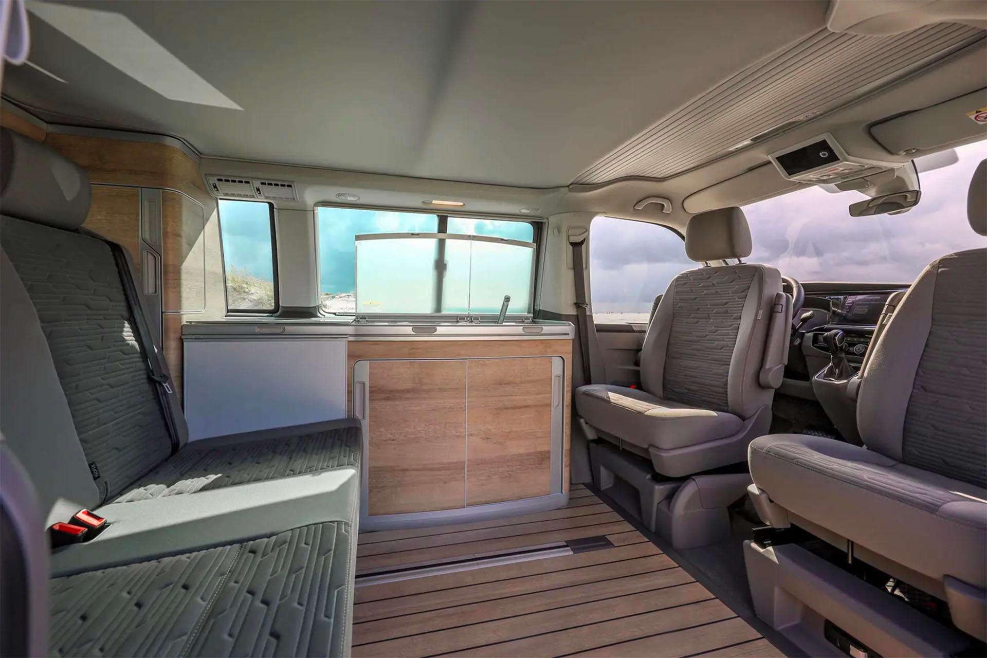 Volkswagen California 6.1 Camper Van interior