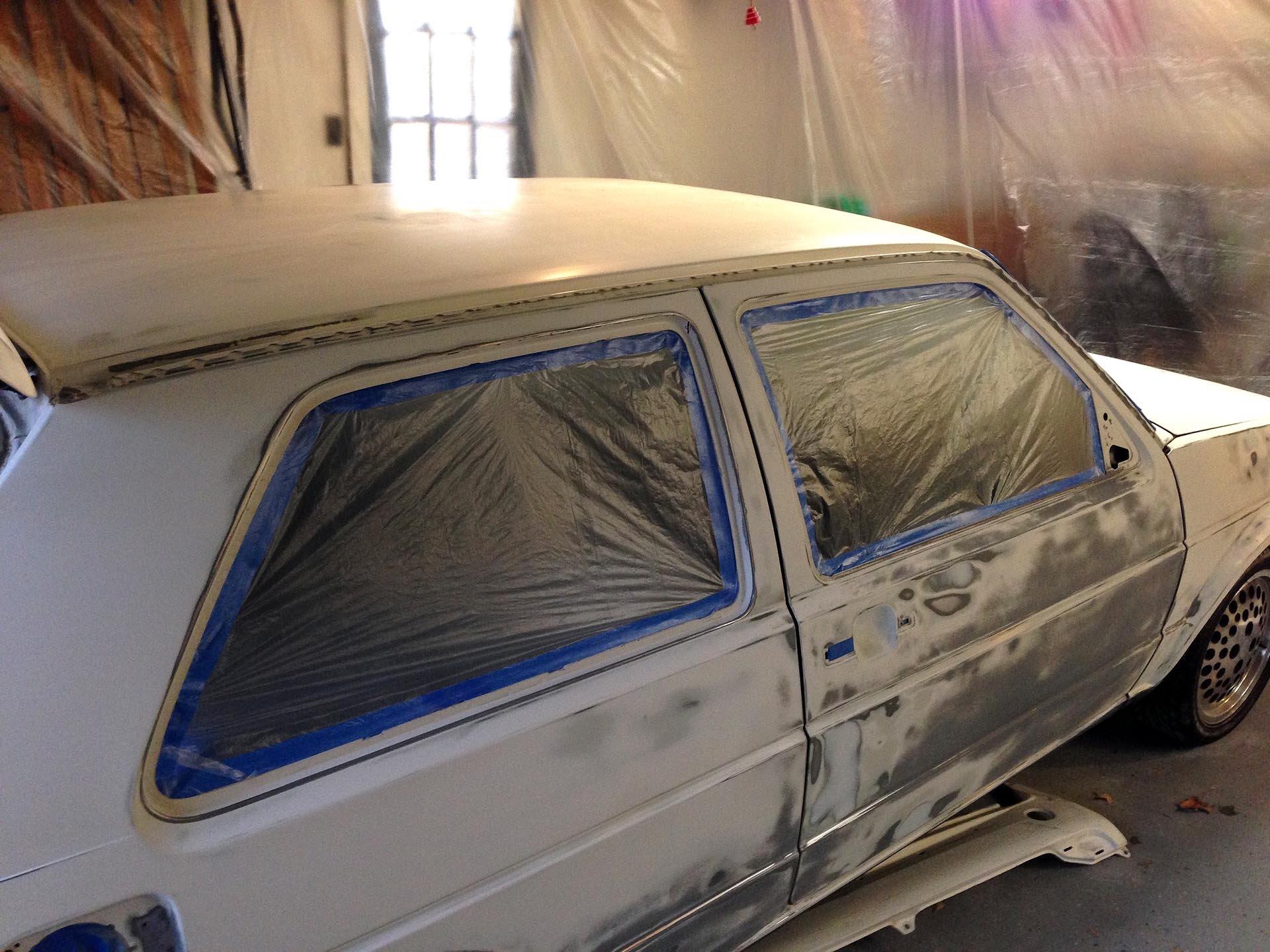 Alpine White Mk2 VW Golf restoration
