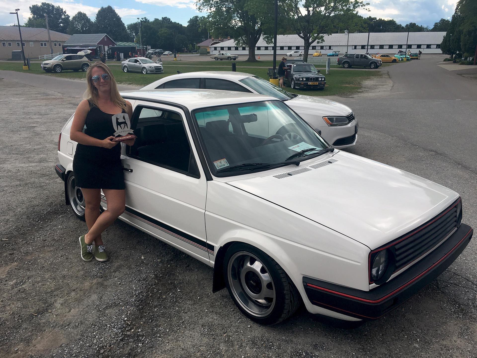 Rachel_L Alpine White Mk2 Golf Wolfsgart Award