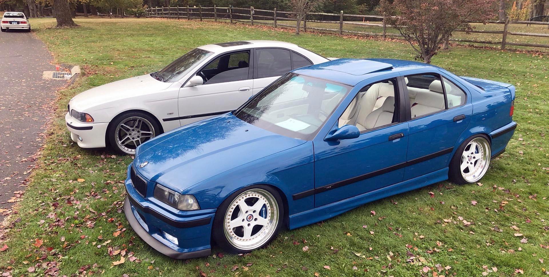 Laguna Seca Blue E36 M3 and E39 M5