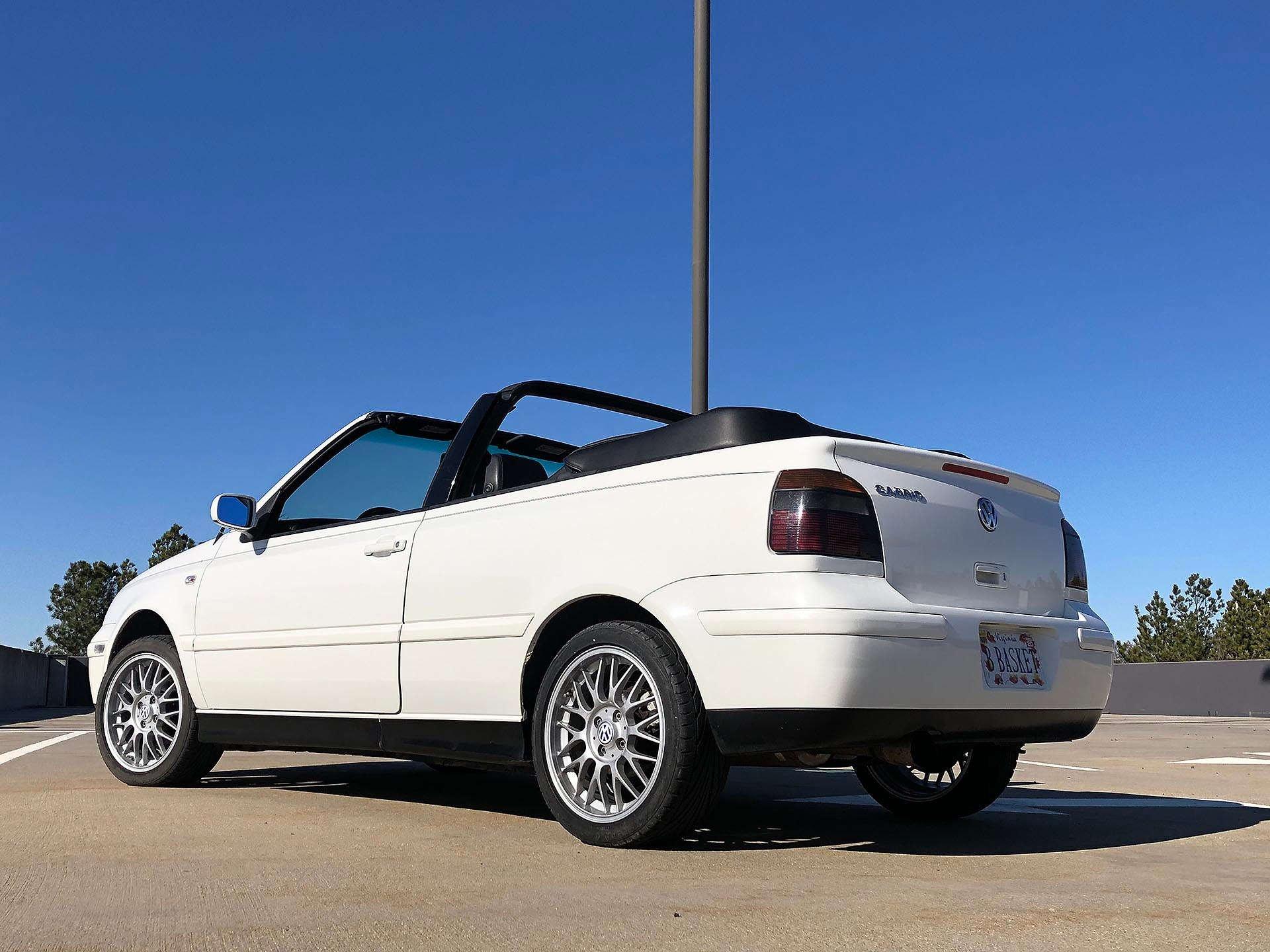 White Mk3.5 2002 Cabrio GLX rear
