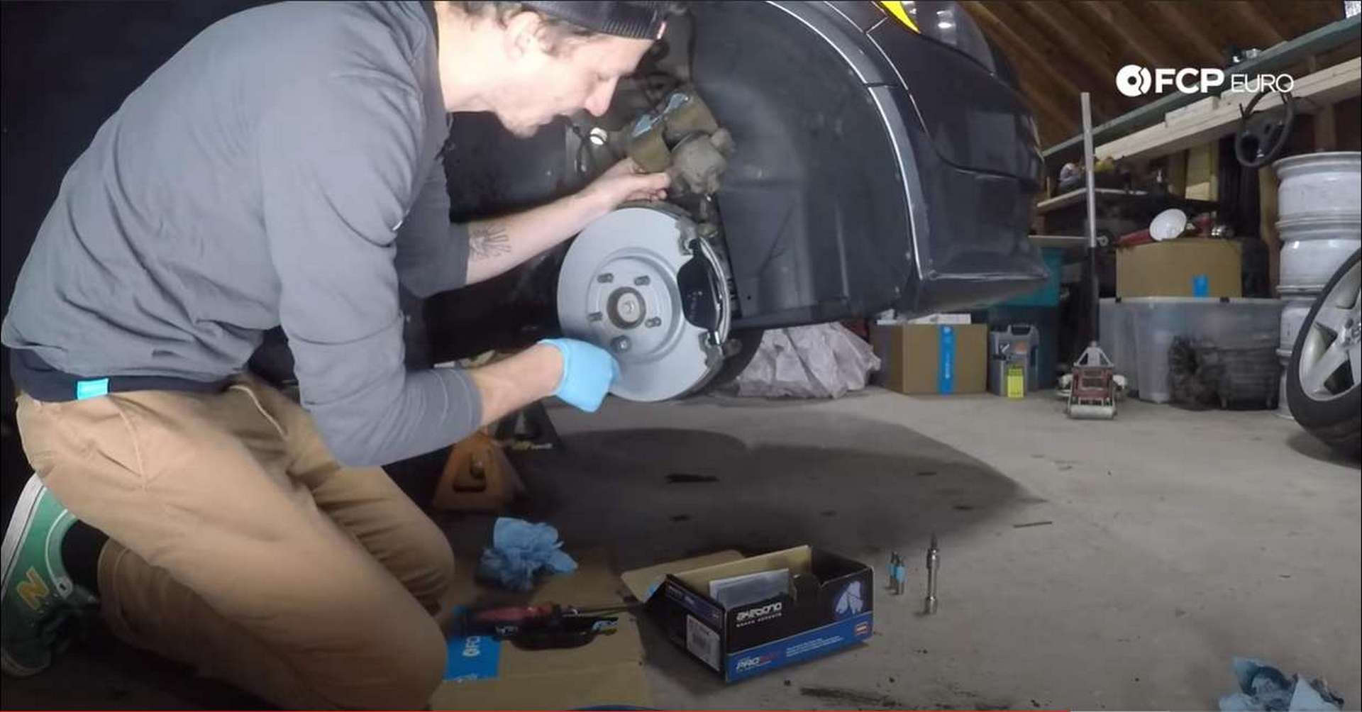 Volvo Front Brakes installing grease and pads