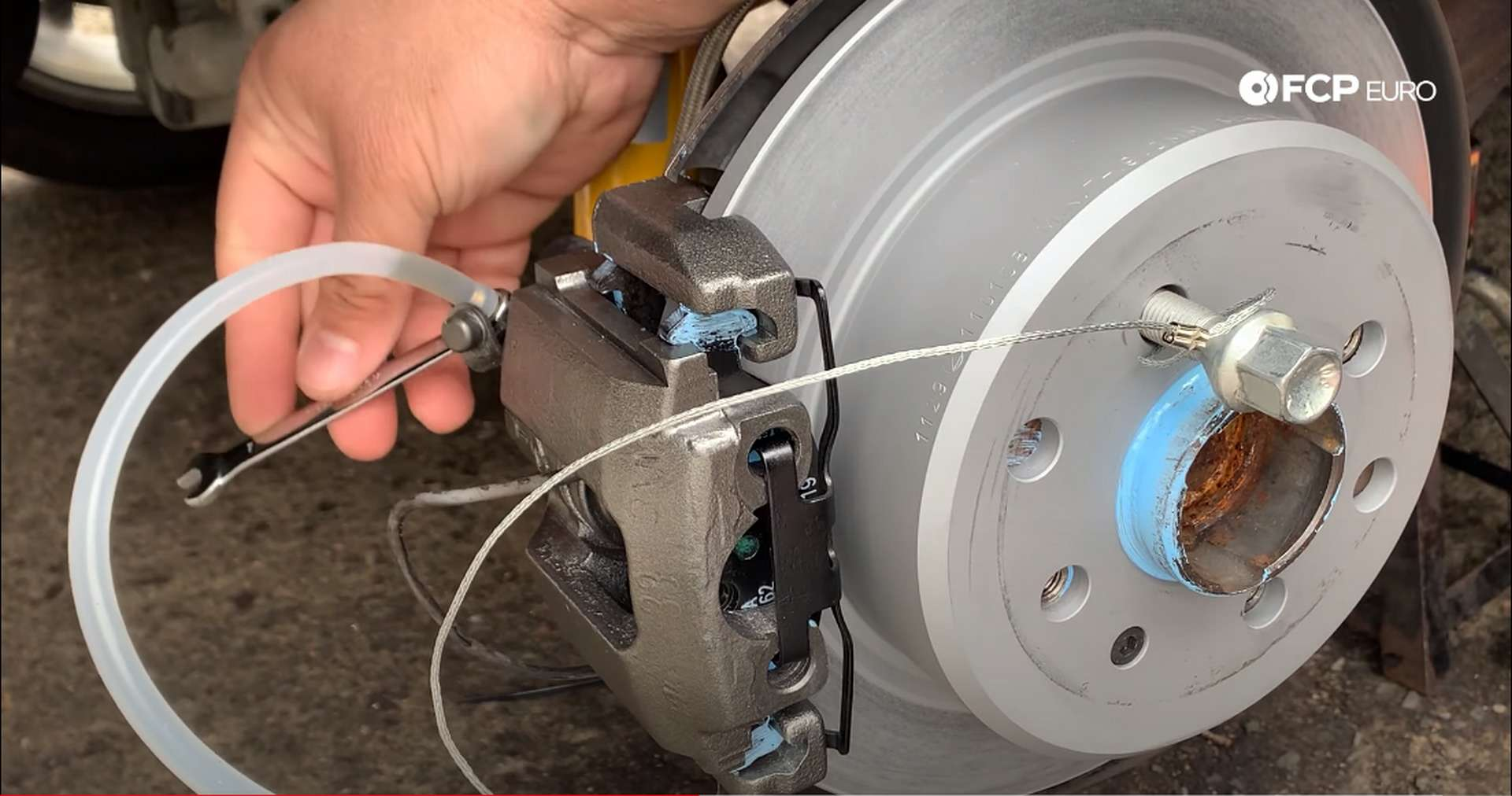 BMW E30 Brake Fluid Flush Bleeder Screw Opened