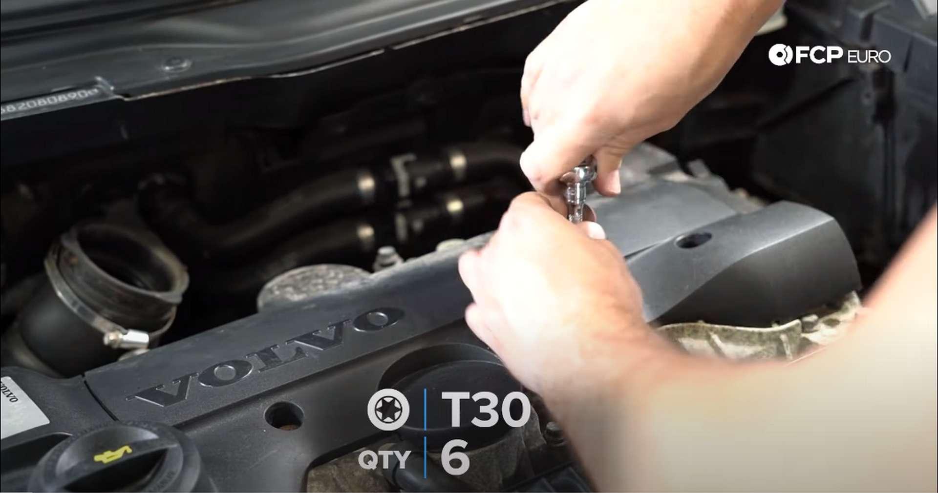 DIY Volvo PCV ignition coil cover removal