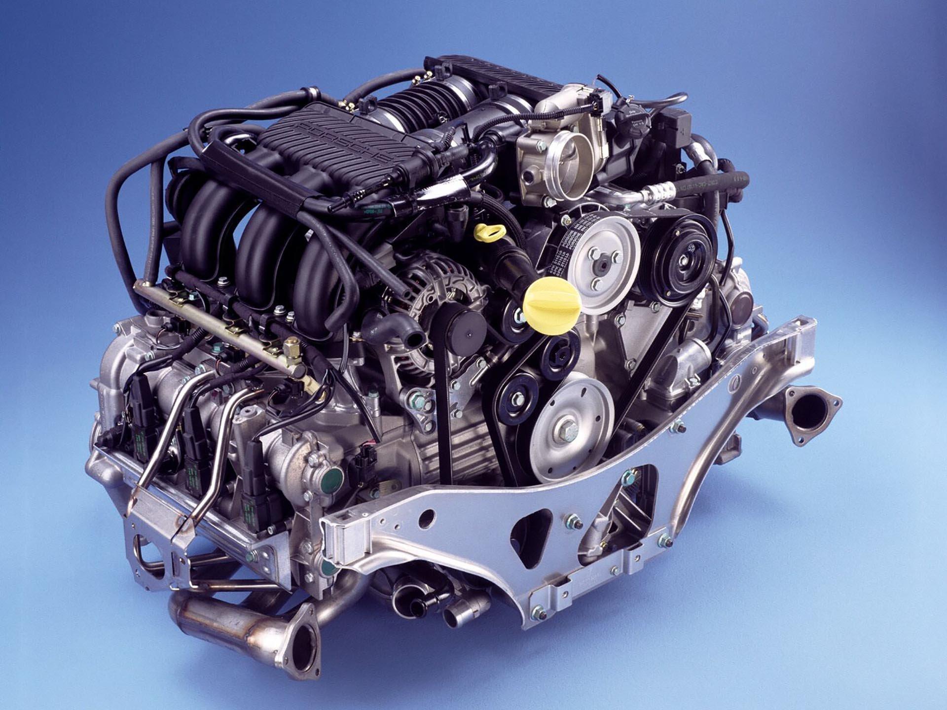 08_Porsche M96 flat-six engine