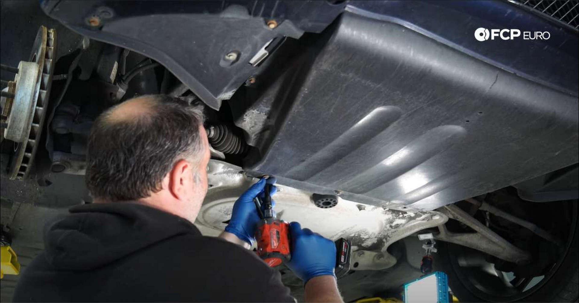 01_DIY_BMW_Front_Suspension_Refresh-Removing-Underbody