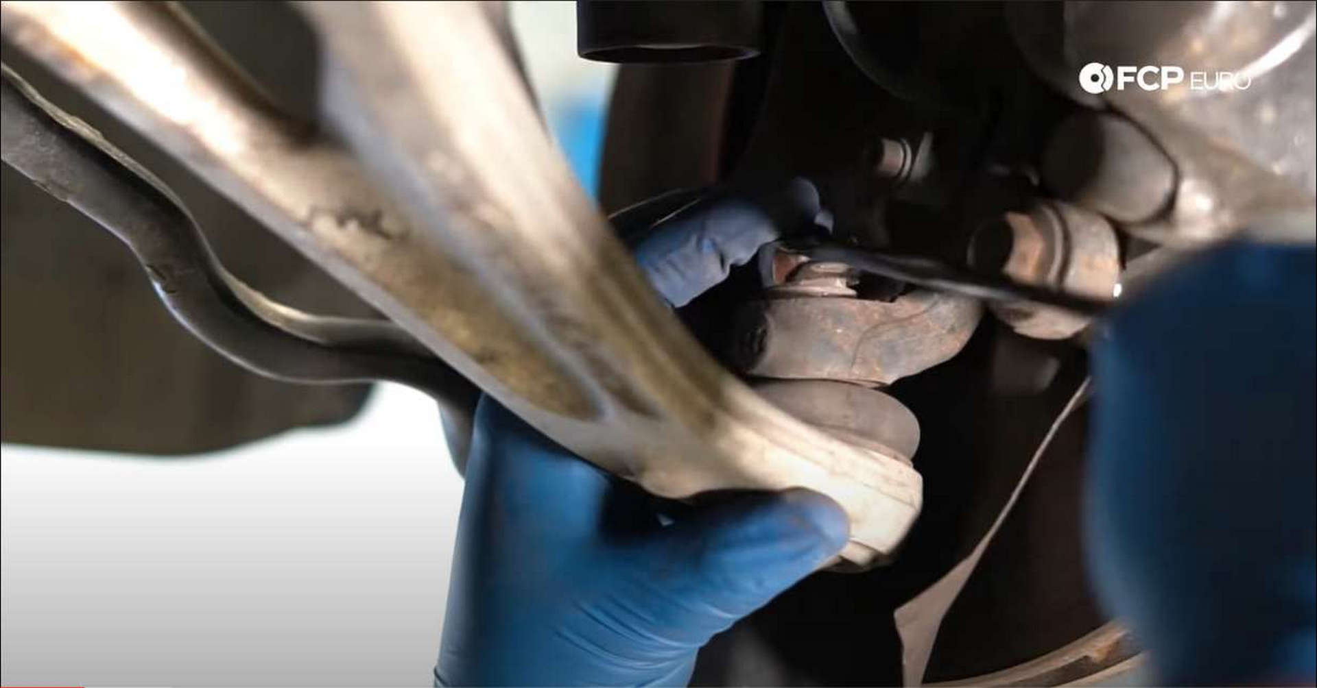 DIY BMW Front Suspension Refresh removing the ball joint nut