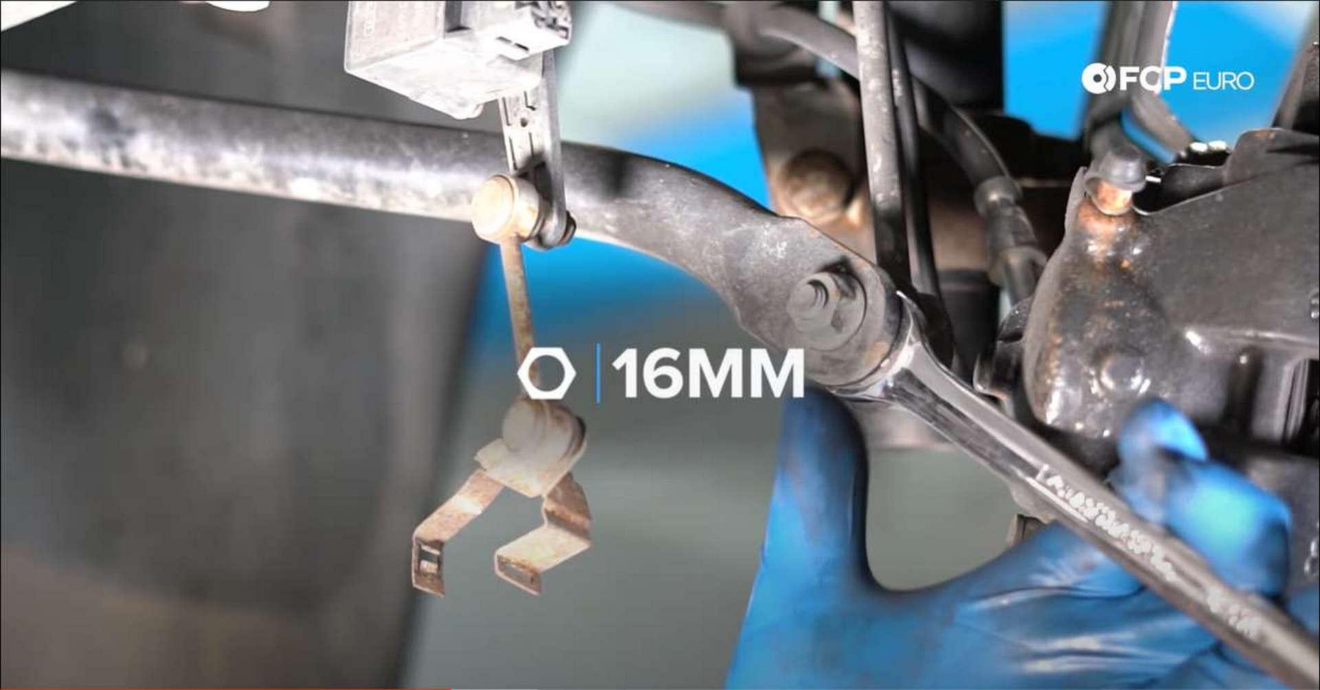 DIY BMW Front Suspension Refresh removing swaybar end link