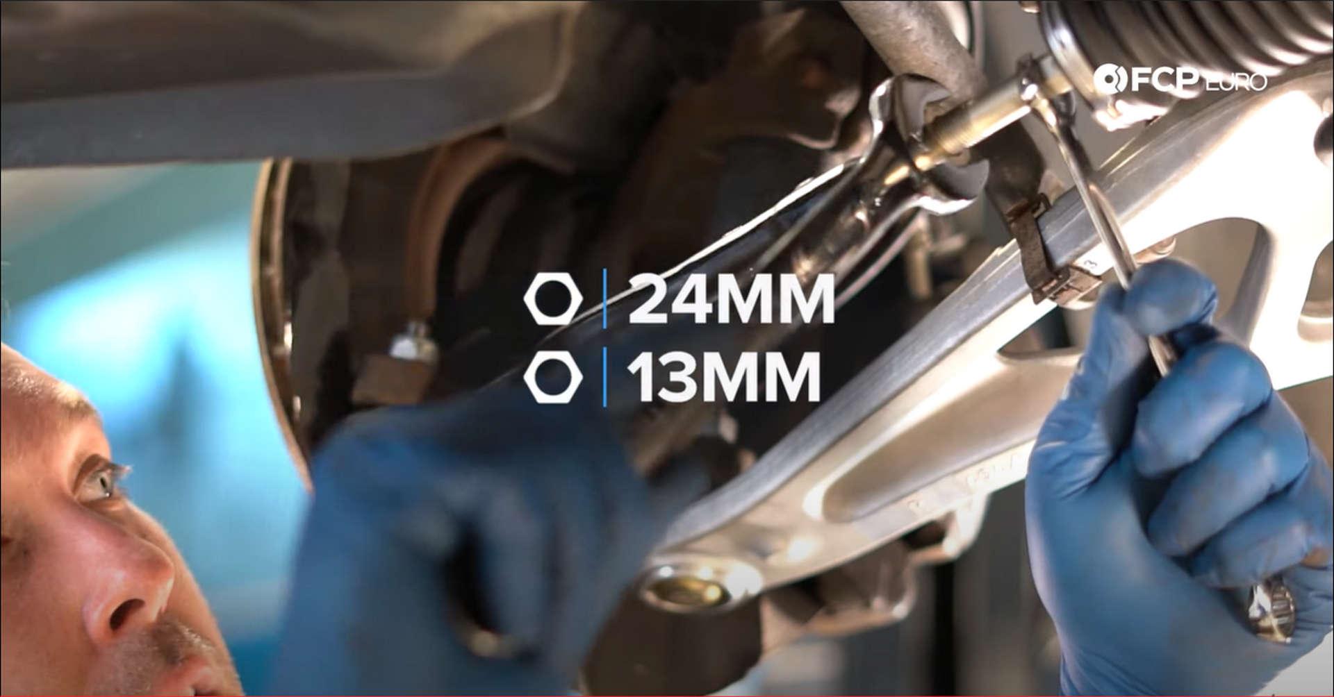 DIY BMW Front Suspension Refresh tightening the tie rod end