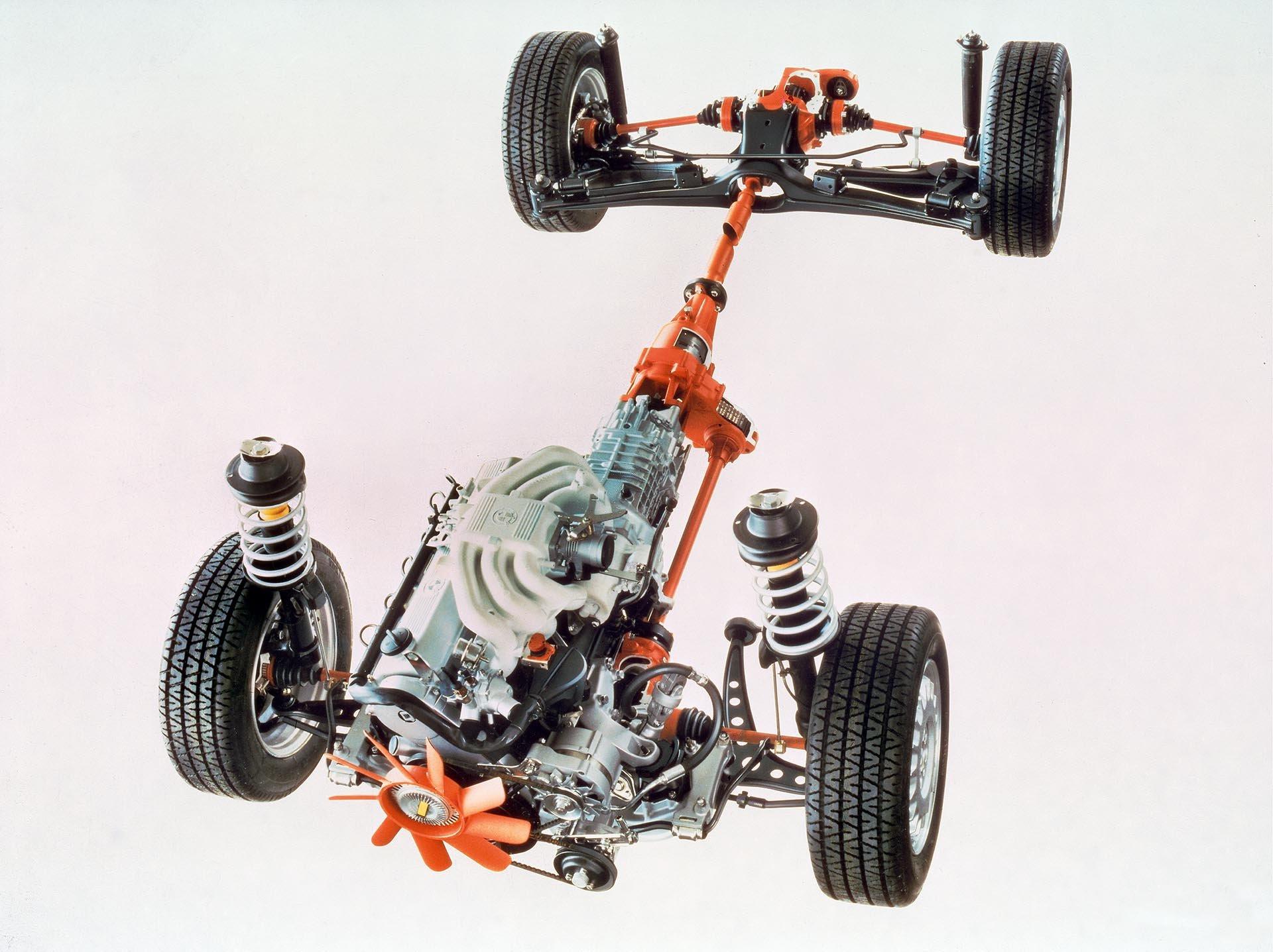12_bmw e30 325iX drivetrain cutaway