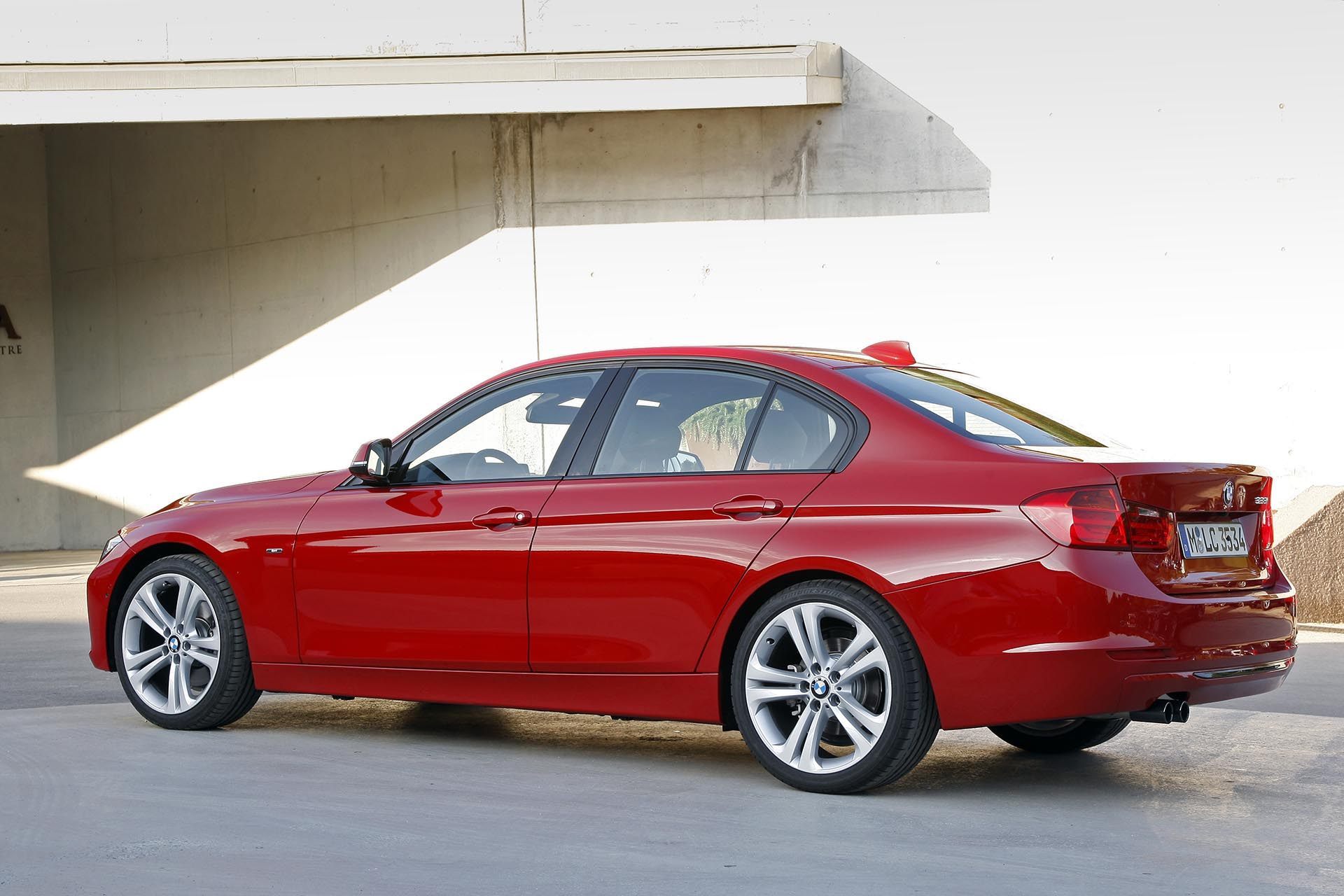 14_bmw f30 328i xdrive rear profile