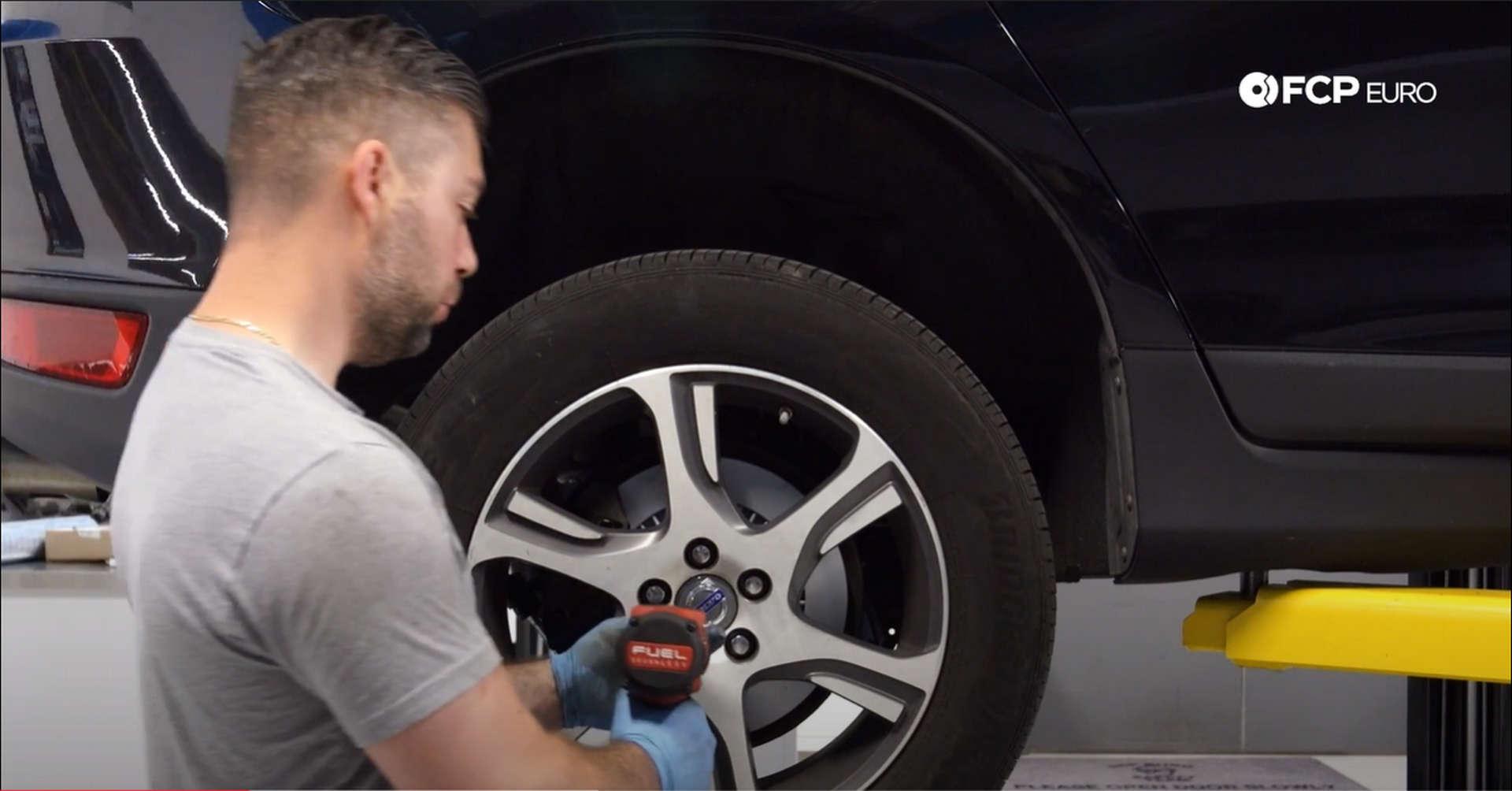 DIY Volvo Rear Shocks removing the wheel