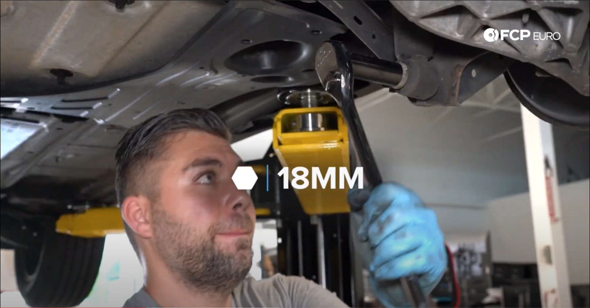 DIY Volvo Rear Shocks removing the lower shock mounting bolt