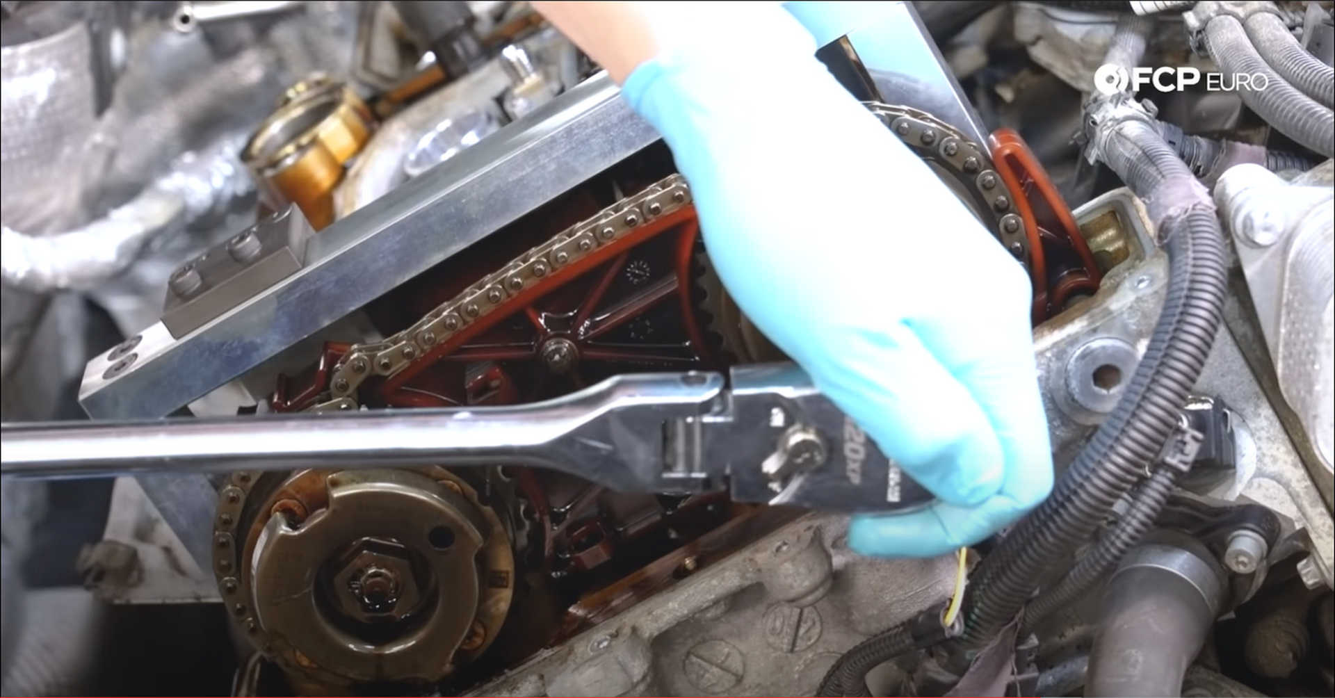 DIY BMW N20 Timing Chain removing the chain tensioner