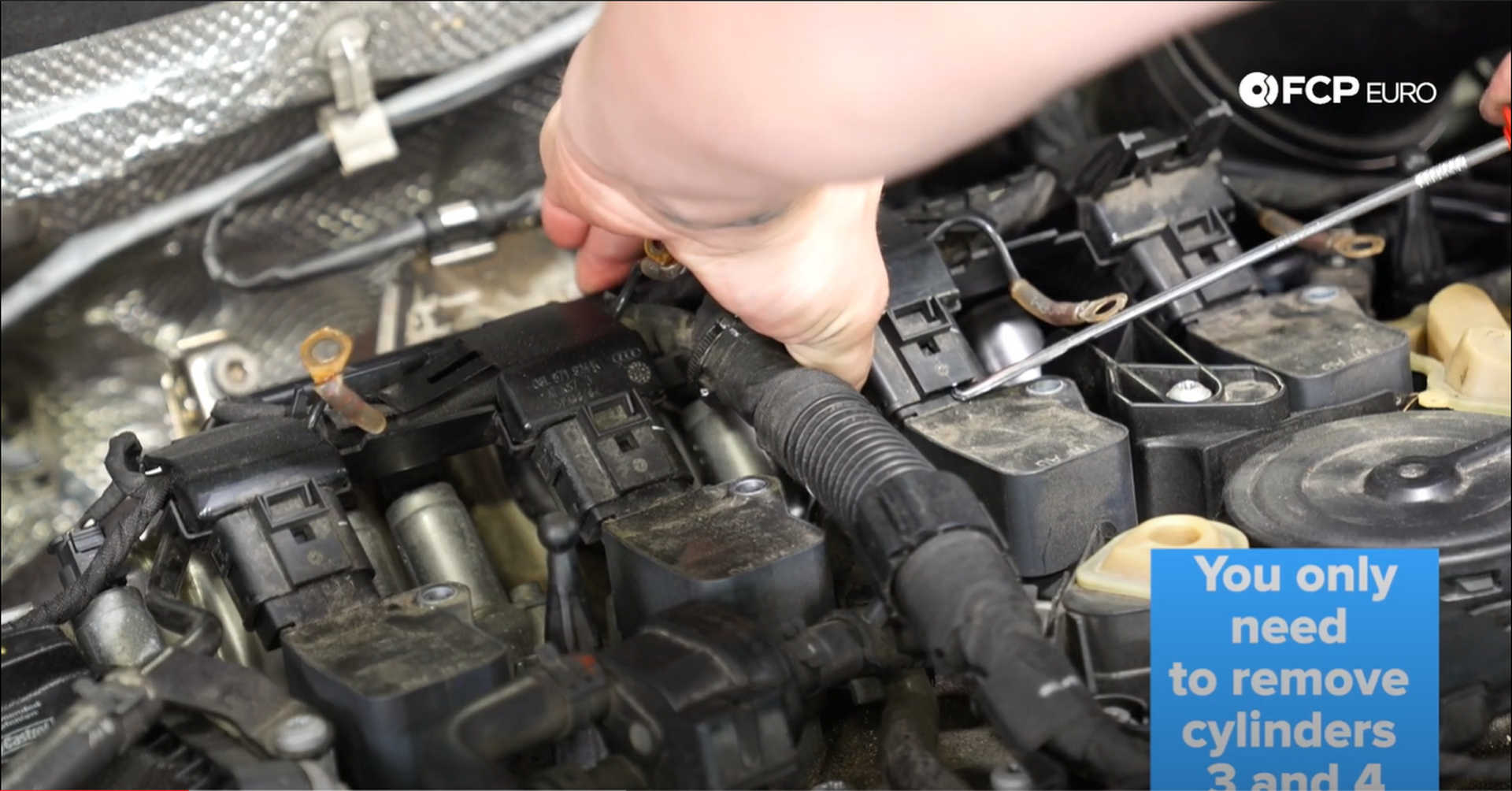 DIY VW GTI PCV Replacement removing the ignition harness