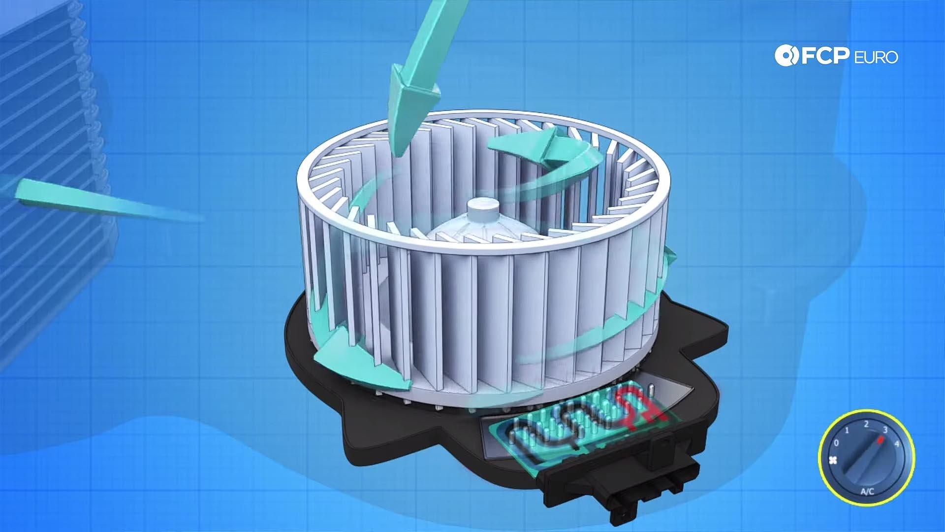 VW GTI blower motor diagram