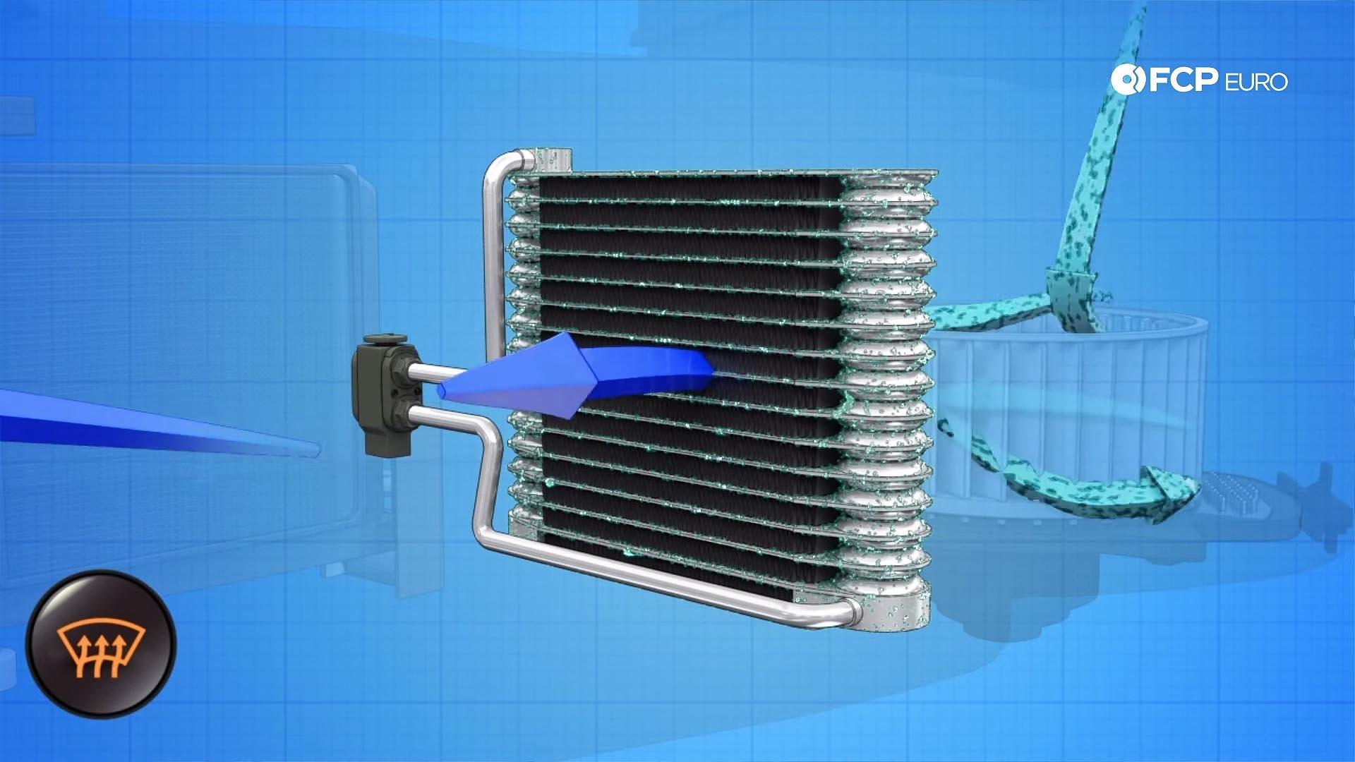 AC evaporator diagram