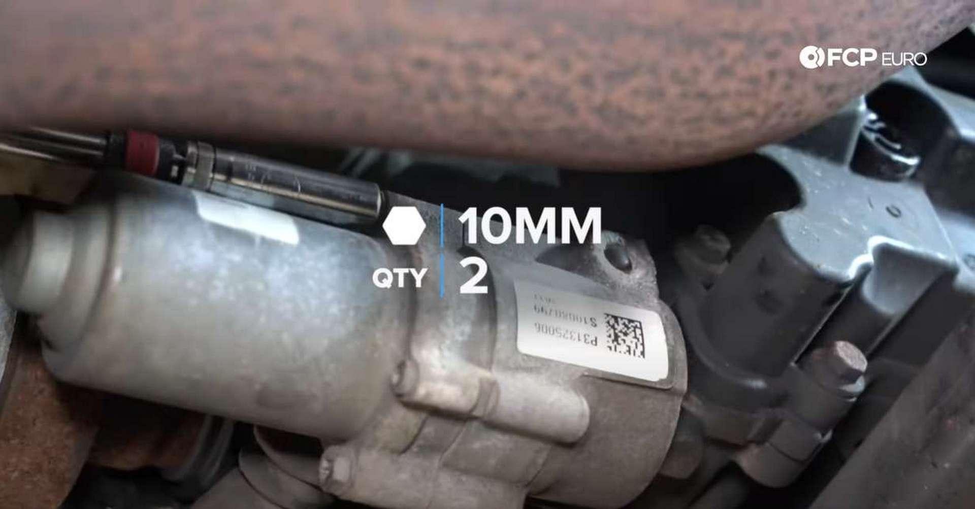DIY P3 Volvo Haldex Fluid removing the pump bolts