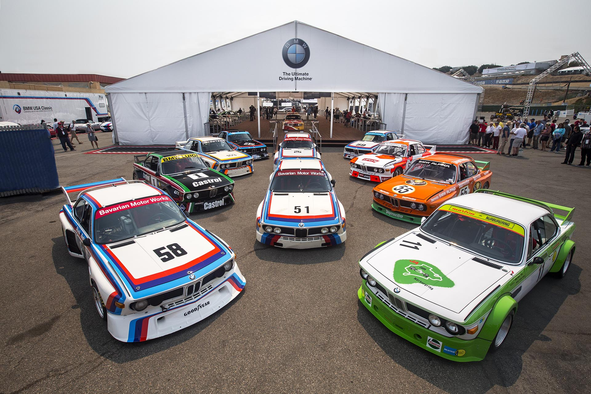 01_Group Shot of Iconic BMW 3.0 CSL race cars