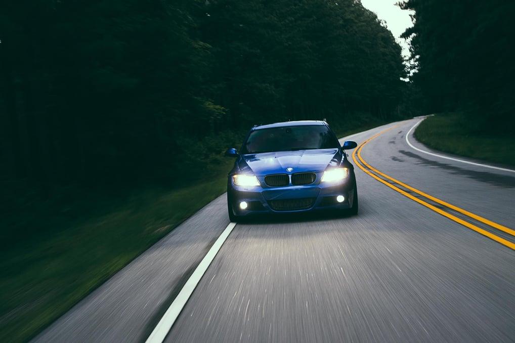 BMW E91 335d rolling shot front