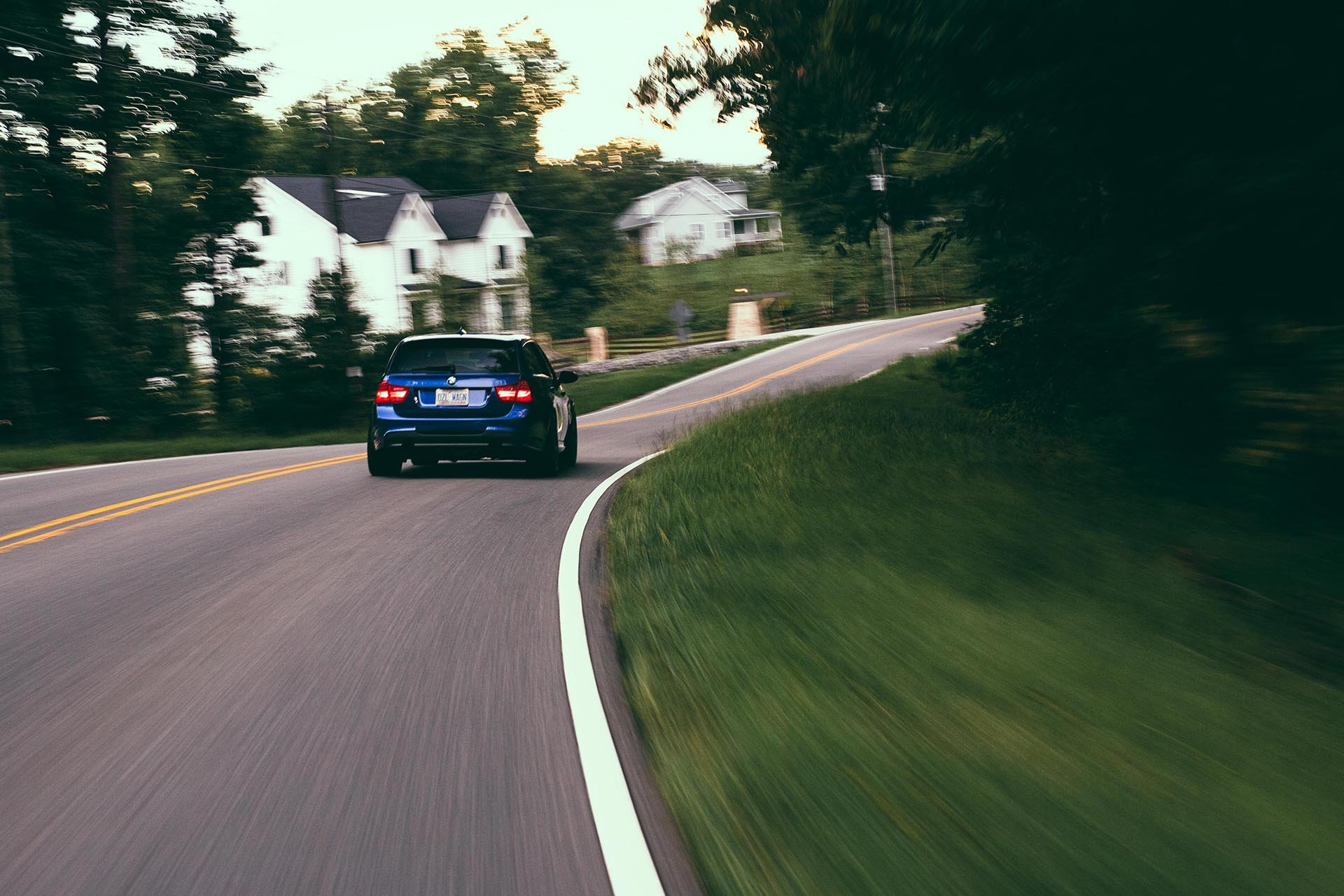 BMW E91 335d rolling shot rear