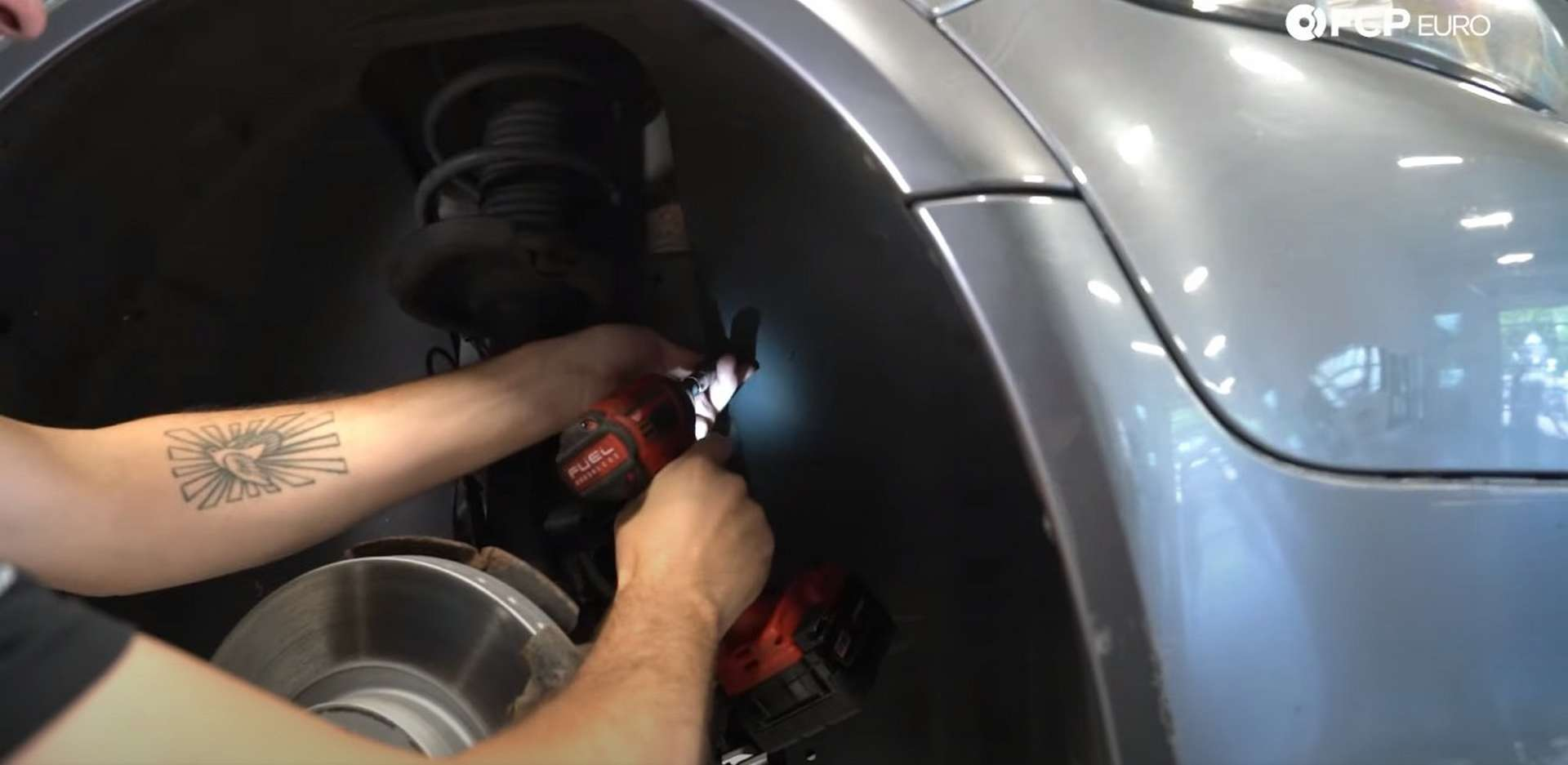 DIY Volvo Alternator and Serpentine Belt Replacement removing the plastic nuts