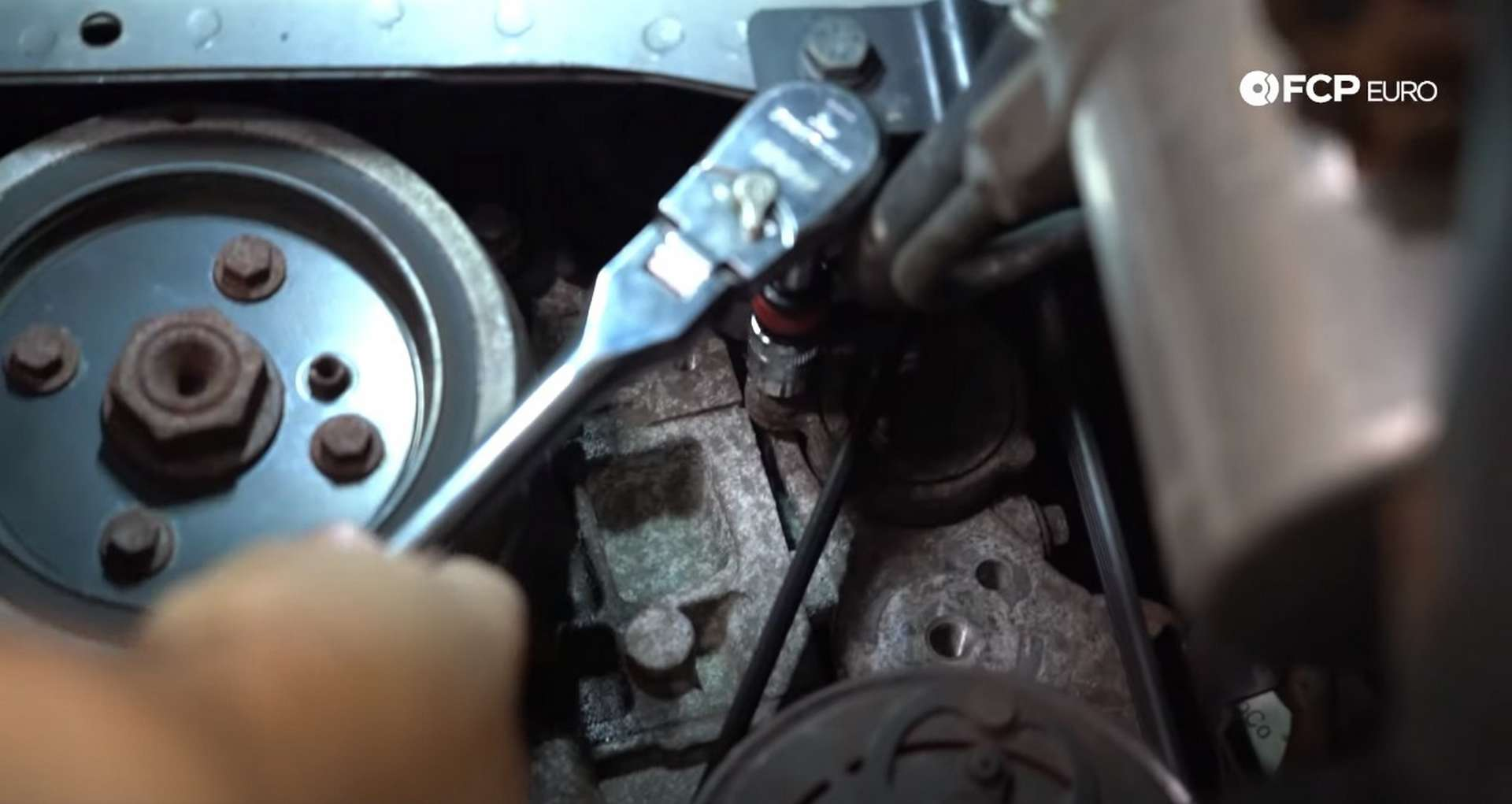 DIY Volvo Alternator and Serpentine Belt Replacement removing the inner belt