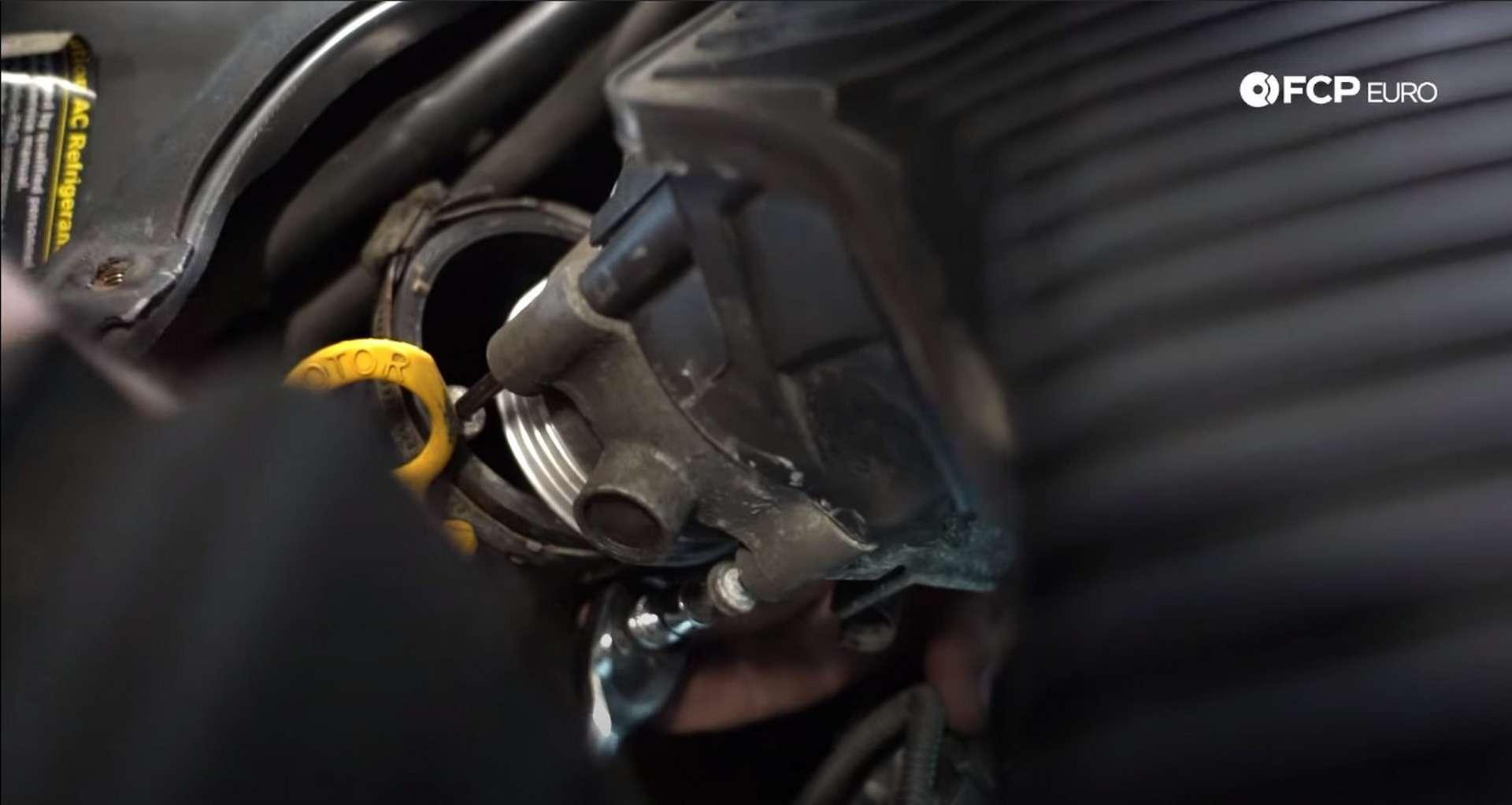 DIY Volvo Alternator and Serpentine Belt Replacement reinstalling the throttle body