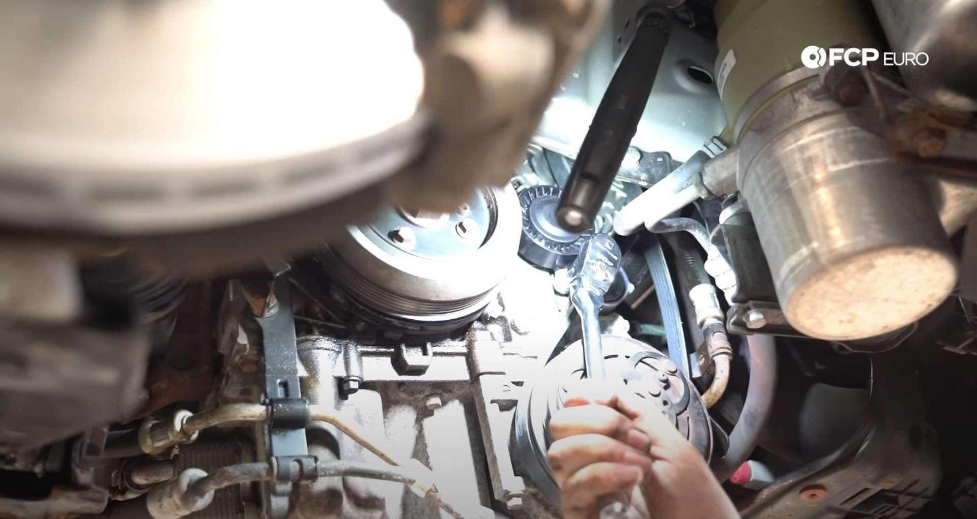 DIY Volvo Alternator and Serpentine Belt Replacement reinstalling the inner belt