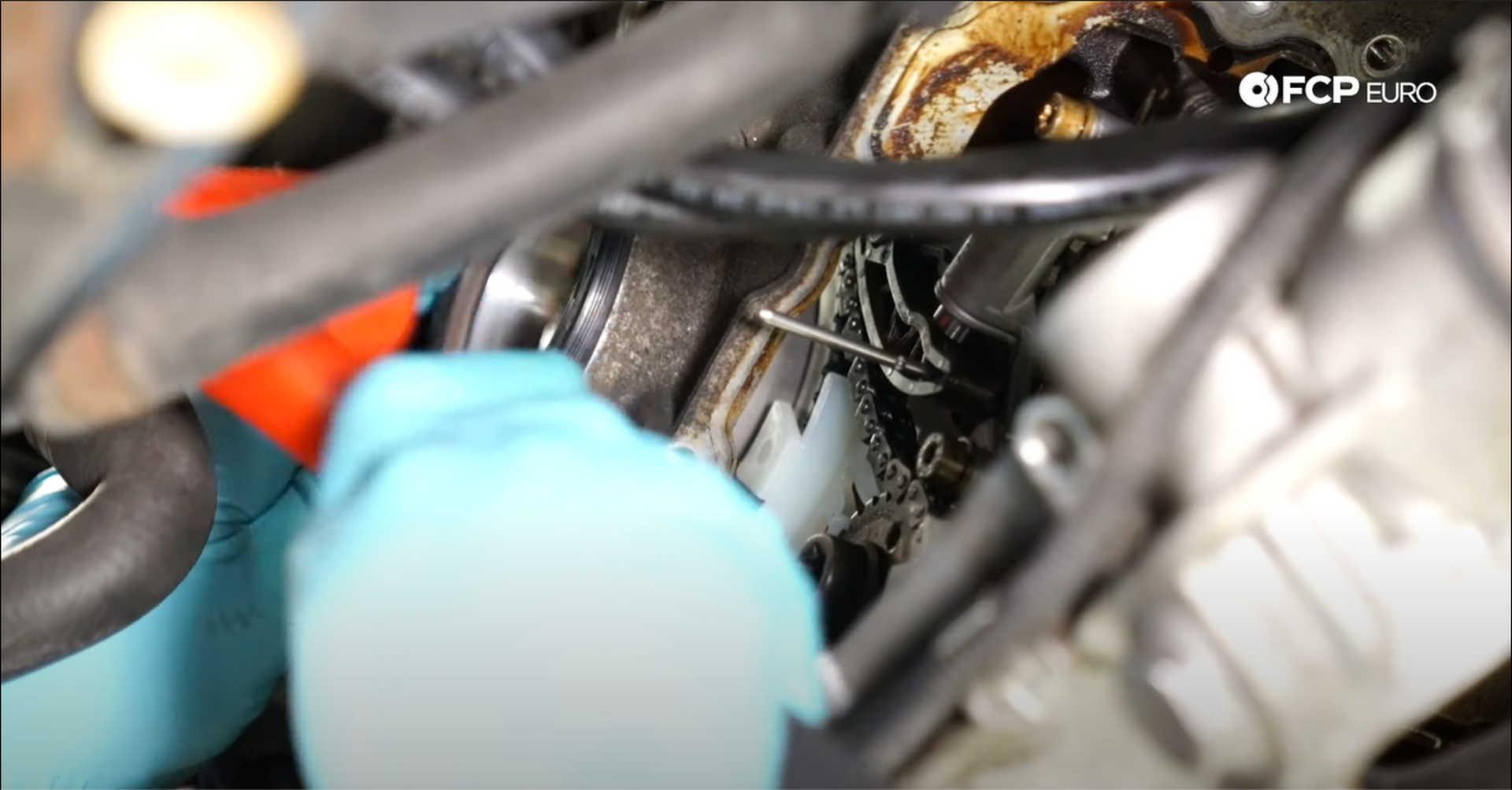 DIY BMW N20 Timing Chain installing the new crankshaft seal