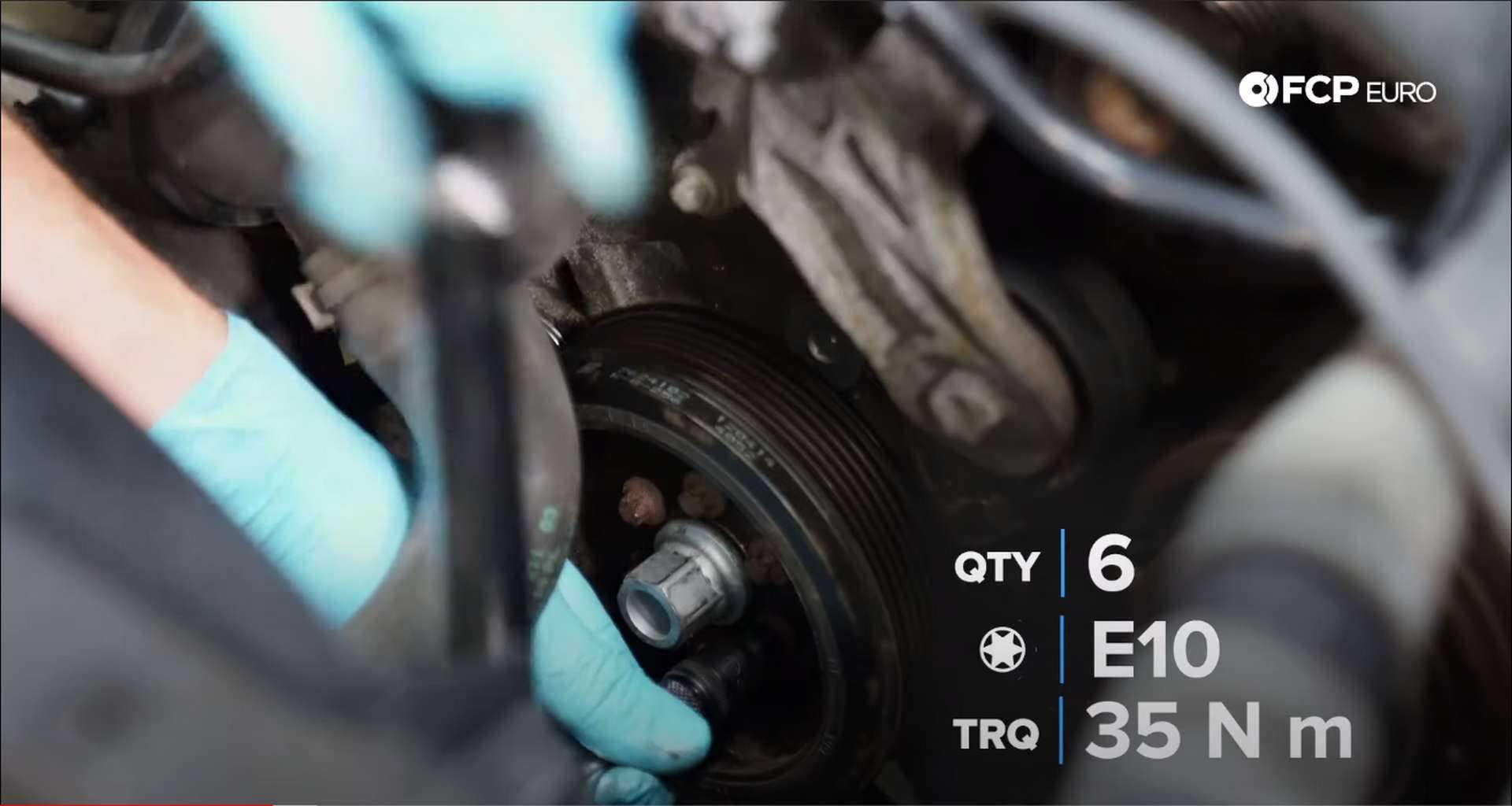 DIY BMW N20 Timing Chain torquing the vibration dampener bolts
