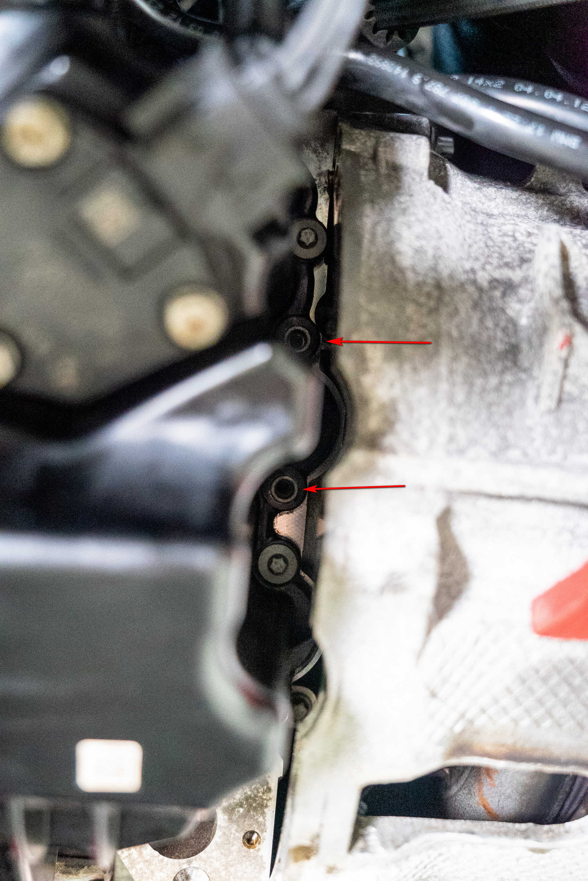 DIY BMW N20 Timing Chain special oil pan bolt locations