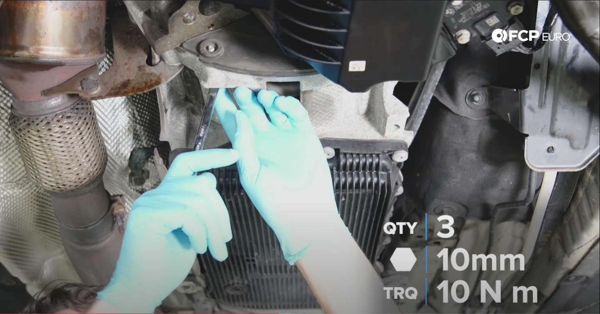 DIY BMW N20 Timing Chain tightening dust shield bolts